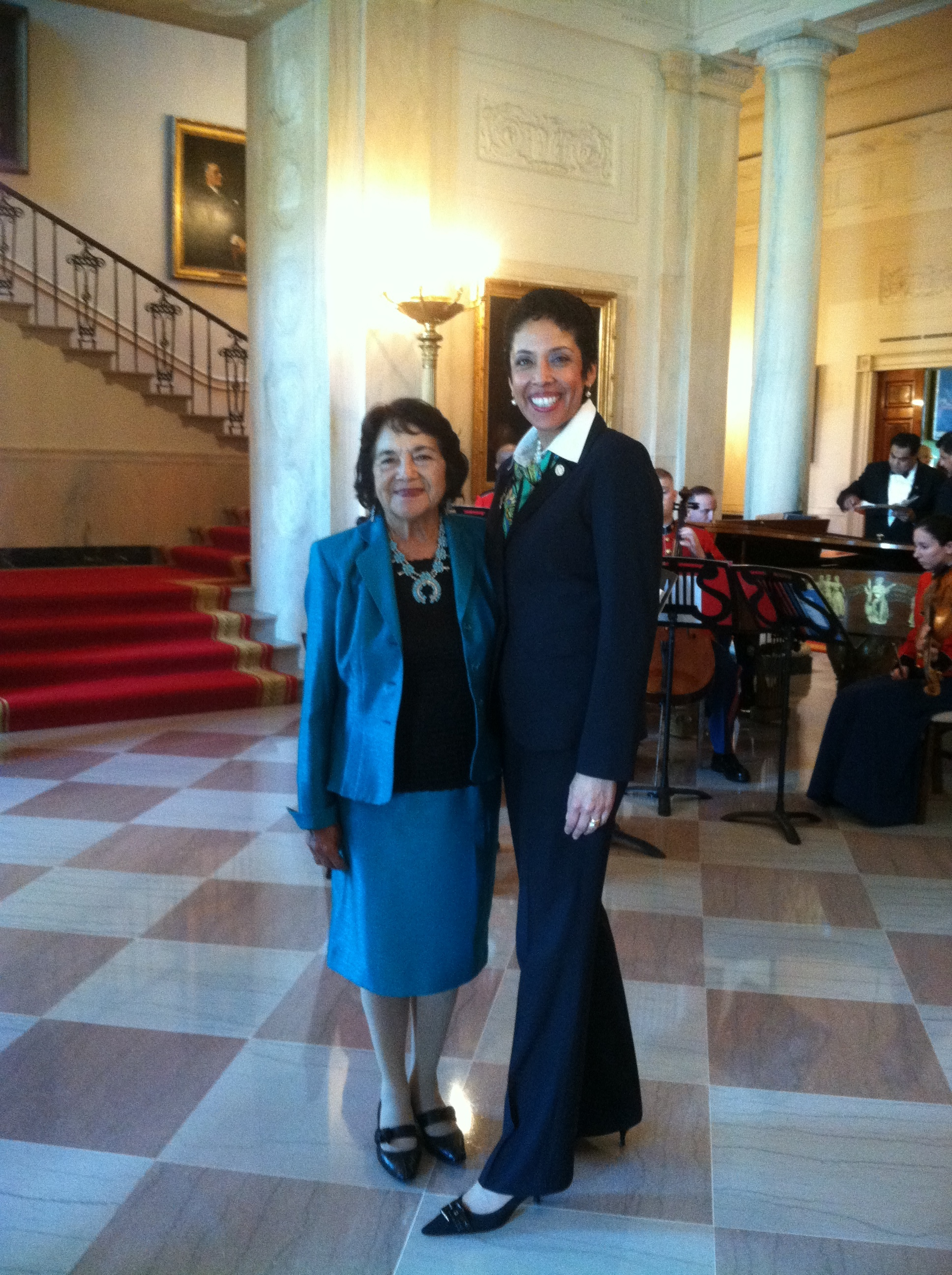 Labor Leader Dolores Huerta with Anna Maria Chávez