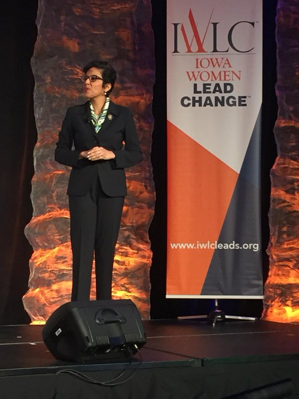Former CEO of the Girl Scouts of the USA, Anna Maria Chávez Speaking at the Iowa Women Lead Change Conference