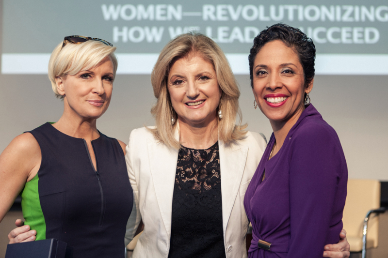 Television Host Mika Brzezinski and Author Arianna Huffington with Anna Maria Chávez