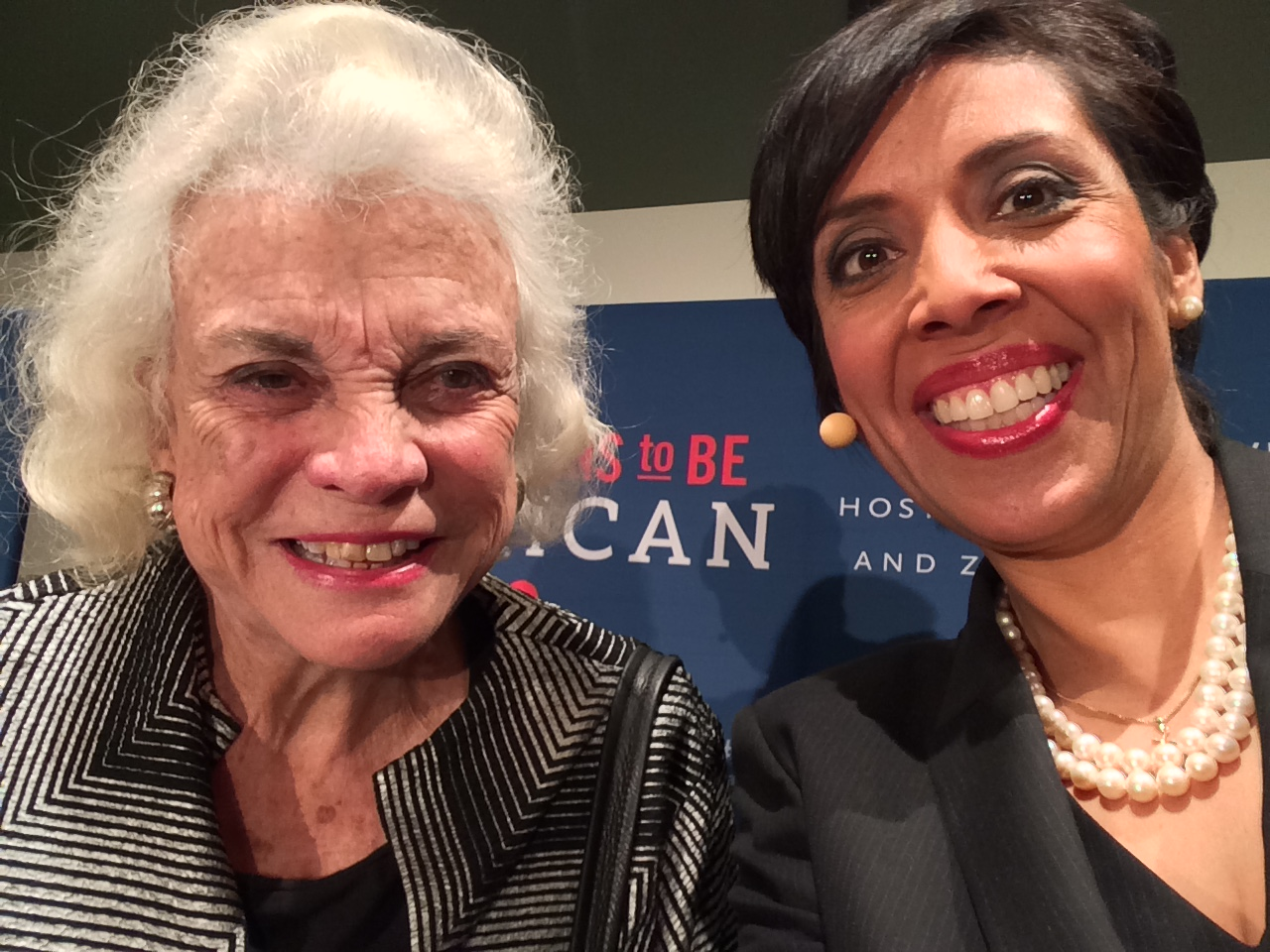 Former Associate Justice of the Supreme Court Sandra Day O'Connor with Anna Maria Chávez