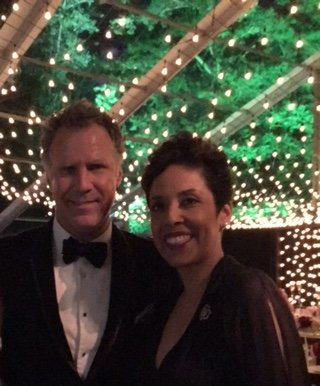 Actor Will Ferrell with Anna Maria Chávez