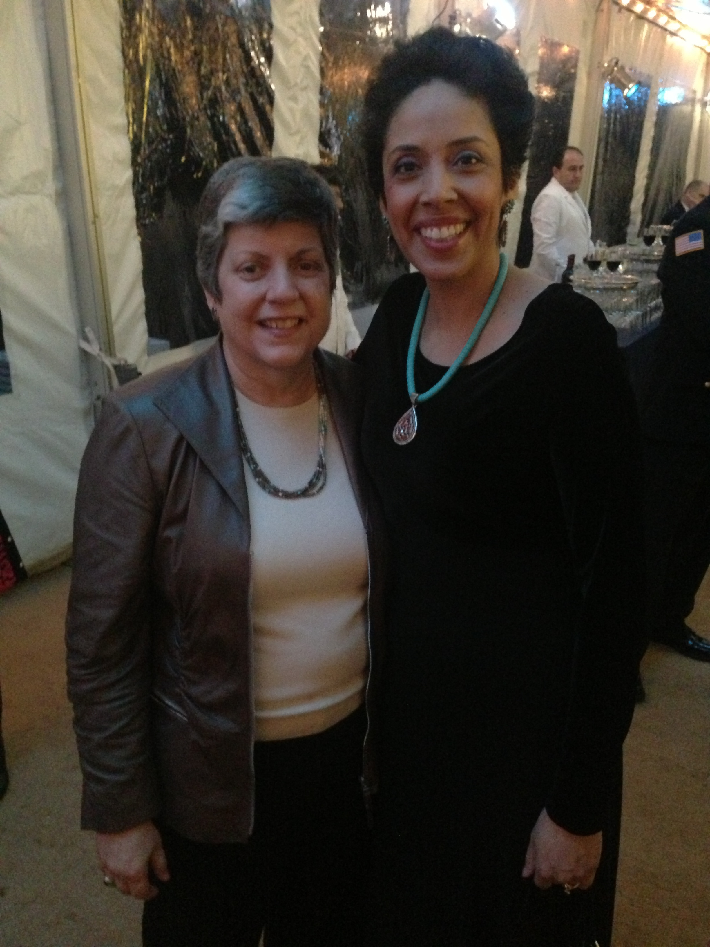 Anna Maria Chavez and Janet Napolitano