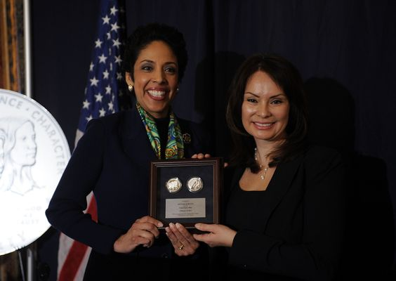 Former Treasurer of the US Rosie Rios Awarding Anna Maria Chávez
