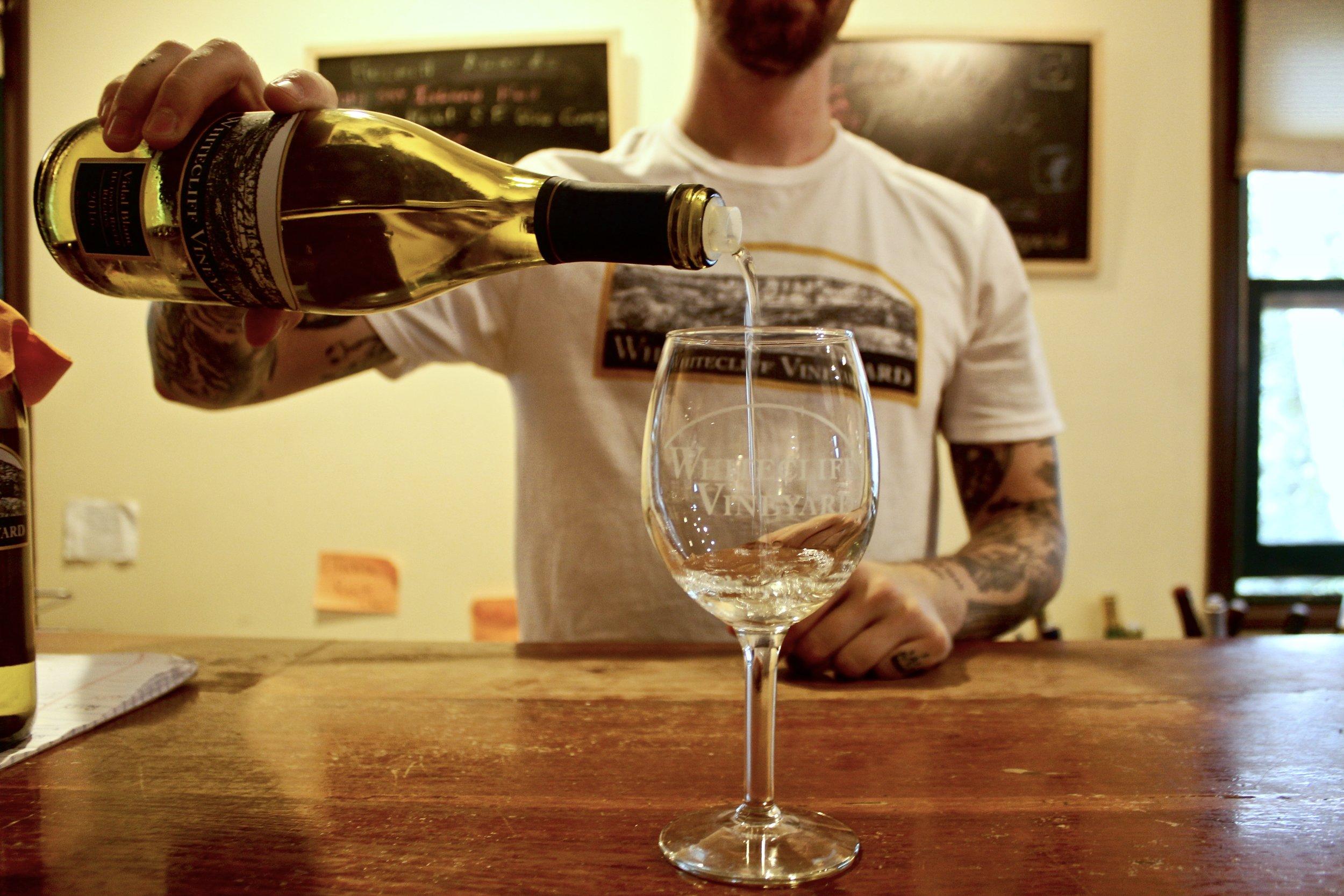Tasting of the Vidal Blanc