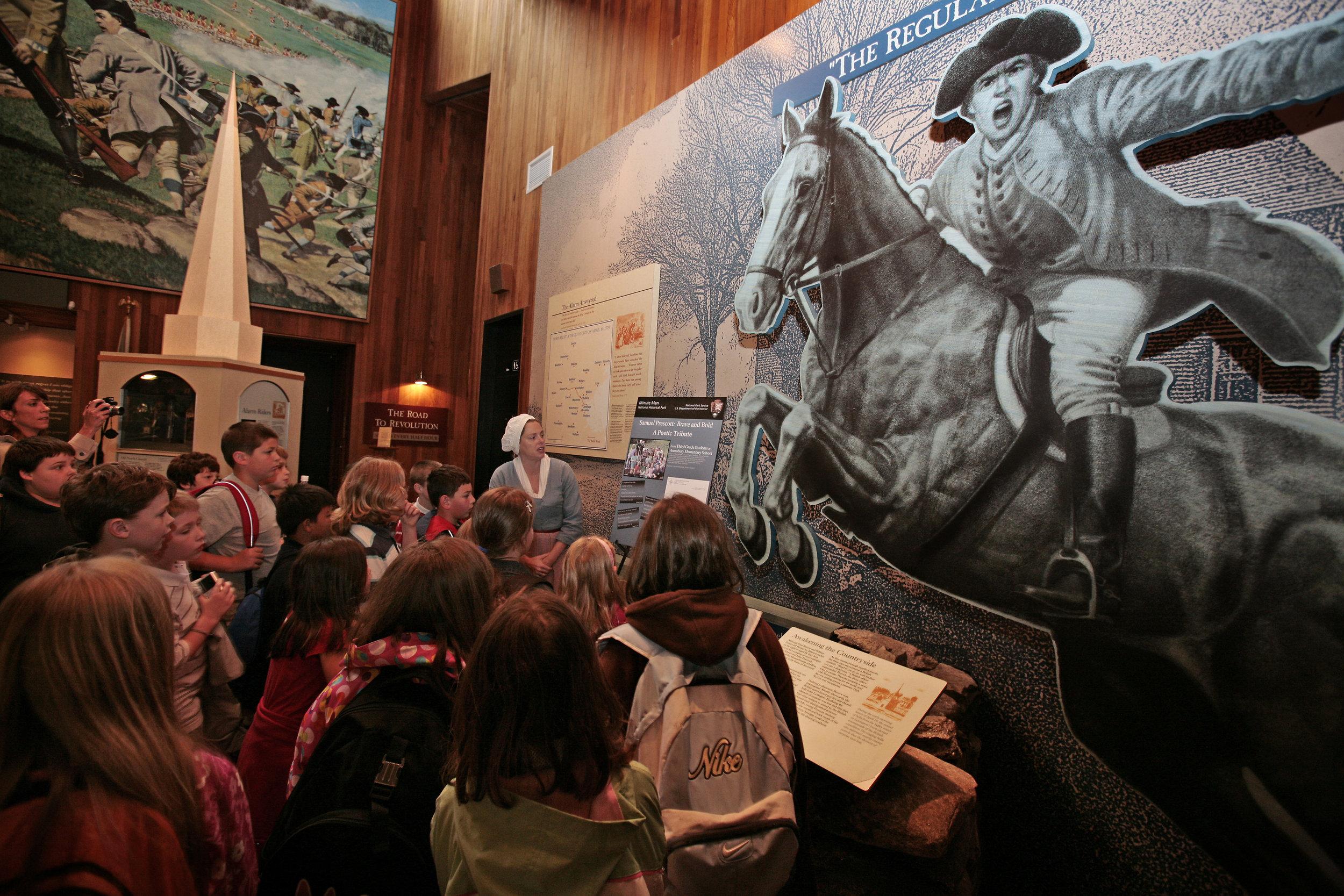 Interpretive program at Minute Man National Historical Park