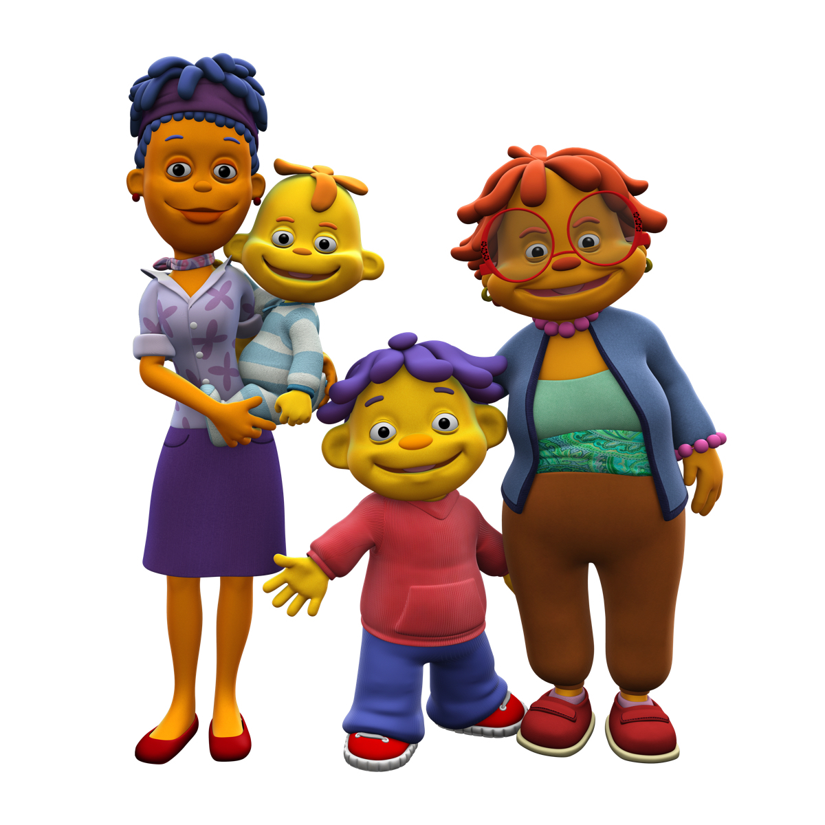 Sid the Science Kid   with his little brother, mom, and grandma