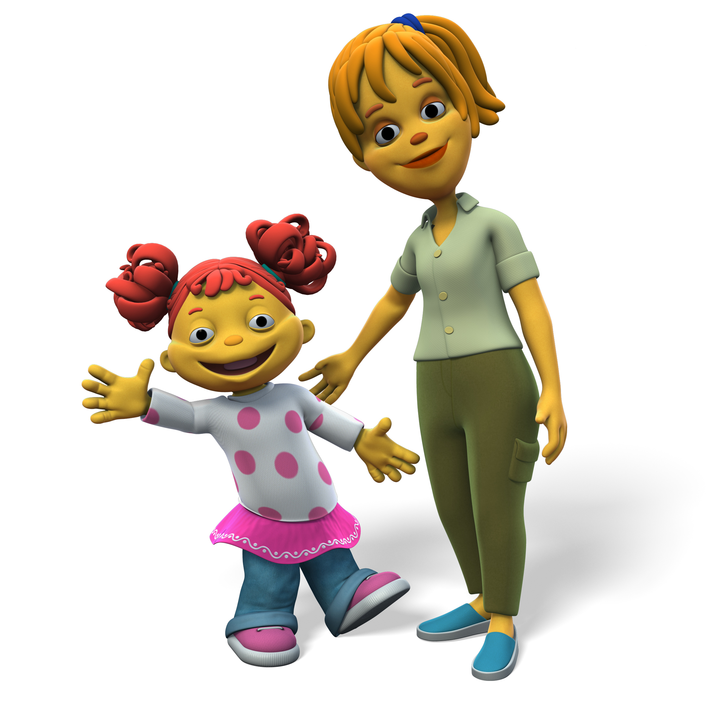 Gabriela and her mom, Dr. Cordova, from   Sid the Science Kid