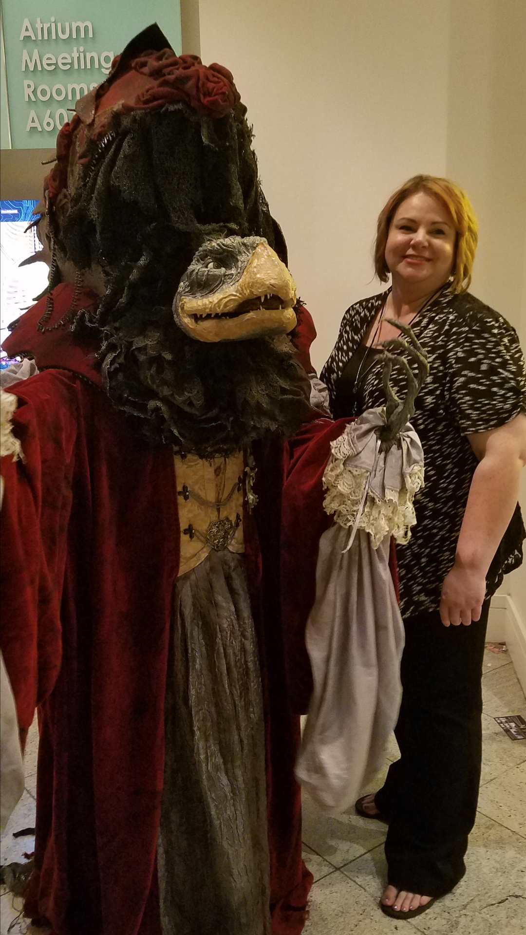 One of many amazing Dark Crystal cosplayers and builders at DragonCon.