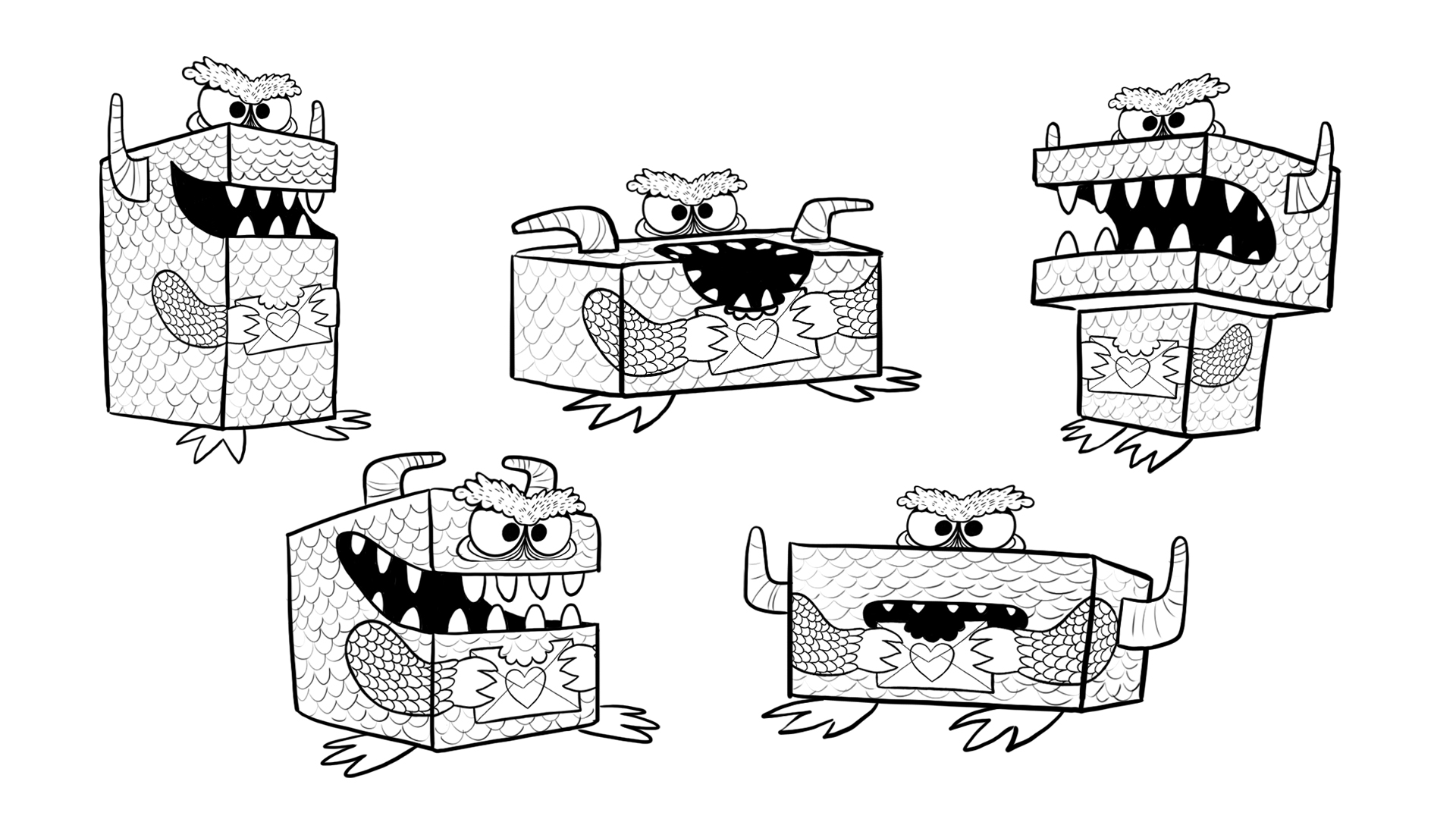 Try different boxes to make all kinds of monsters!
