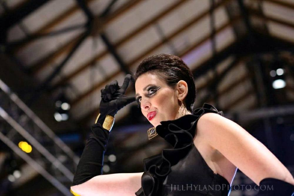 "Makeup : Laura DuVall Seaboy with Warpaint International    Photo: Jill Hyland Photo   ""Rumble on the Runway"""