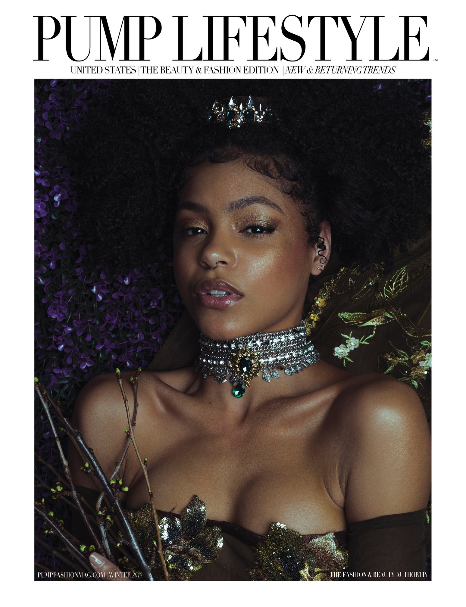 Published in PUMP Magazine December 2018  Photographer: Artist Regina Wamba Makeup: Laura Elizabeth DuVall Seaboy Hair: Mark Navarro Hair & Makeup Gowns: Jacqueline Amissah Addison Accessories: Zong Xiong  Model: Jordan Shepherd