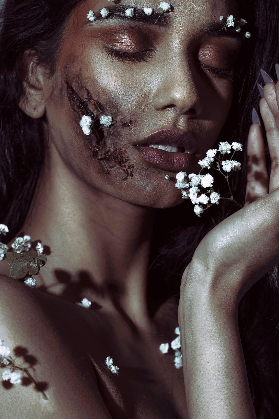 PhotographerArtist Regina Wamba FX MakeupLaura Elizabeth DuVall Seaboy Model Selena BayBay
