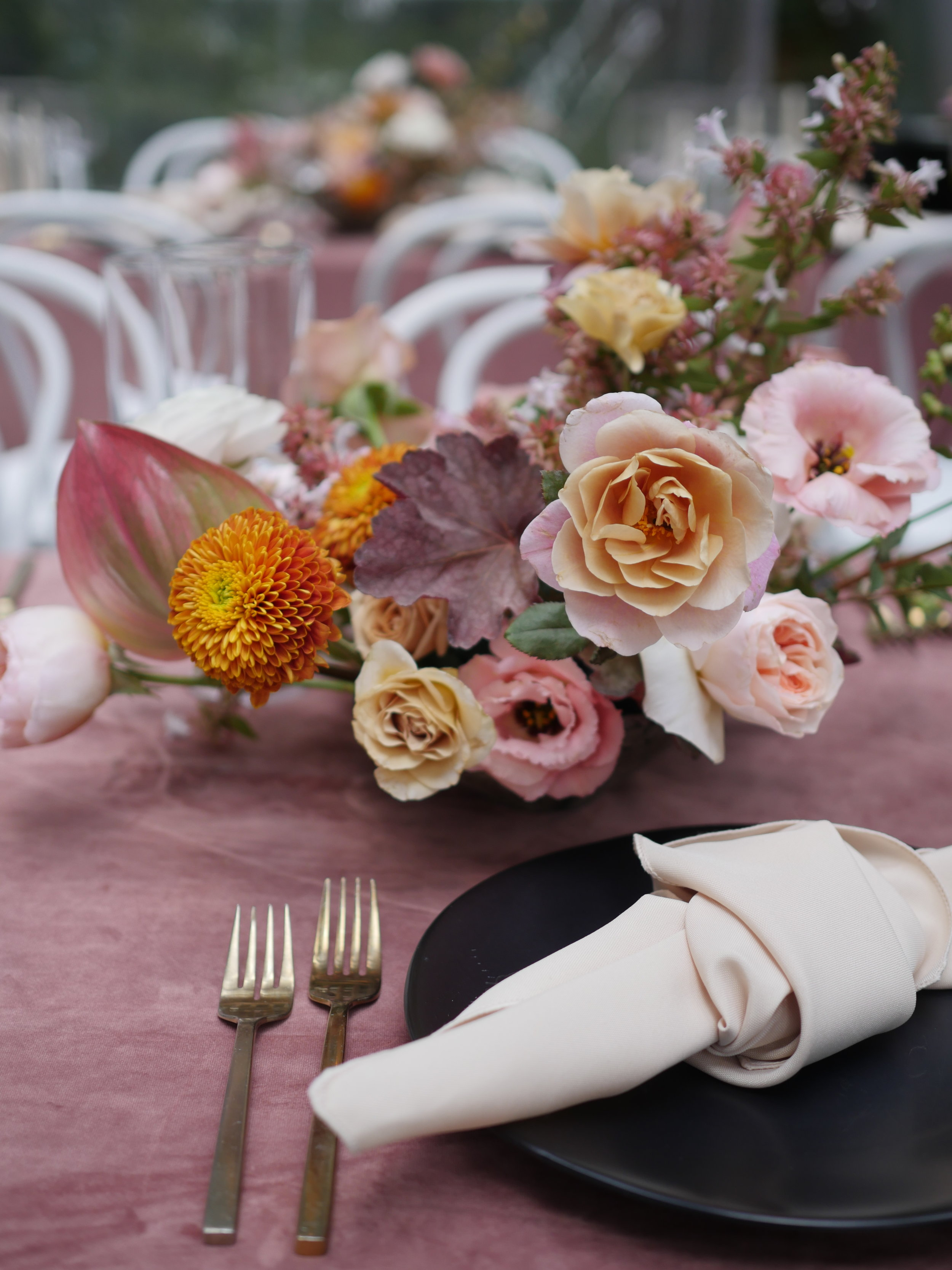 Wedding flower centerpiece by Color Theory Collective