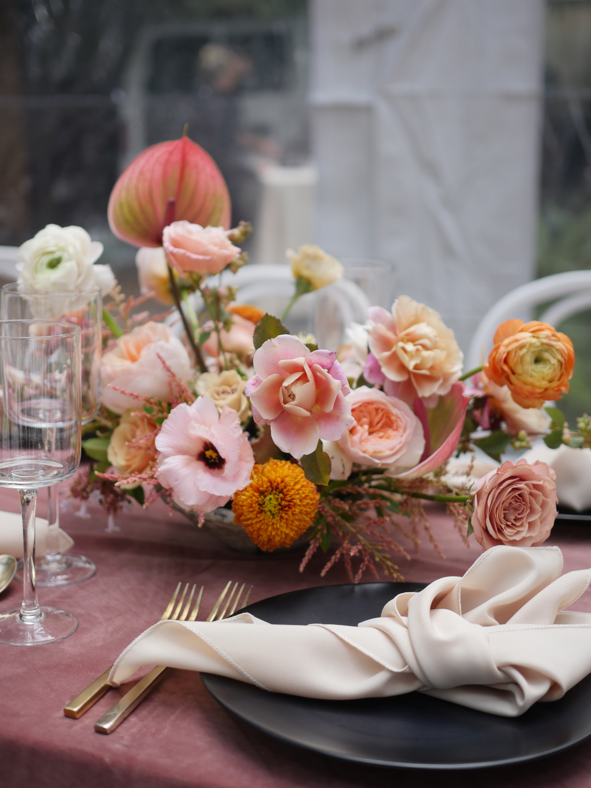 Flowers designed by wedding florist Color Theory Collective