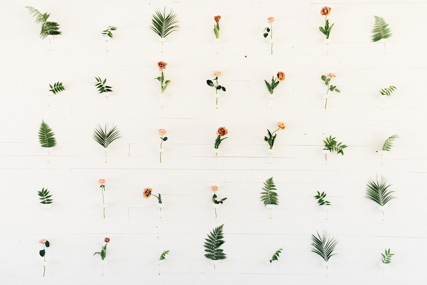 Wedding Floral Wall by Color Theory Collective