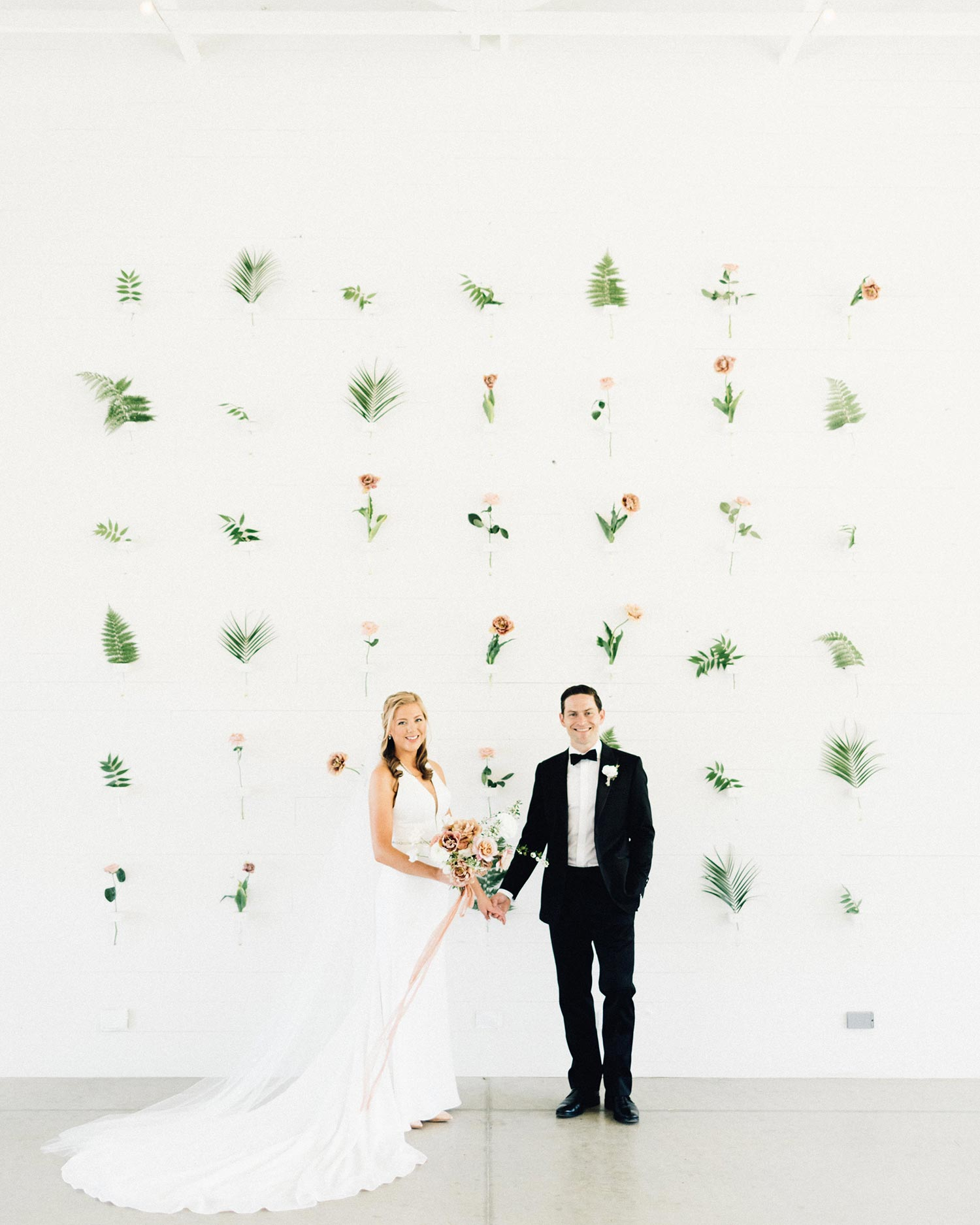 Bouquet & Floral Wall by Color Theory Collective