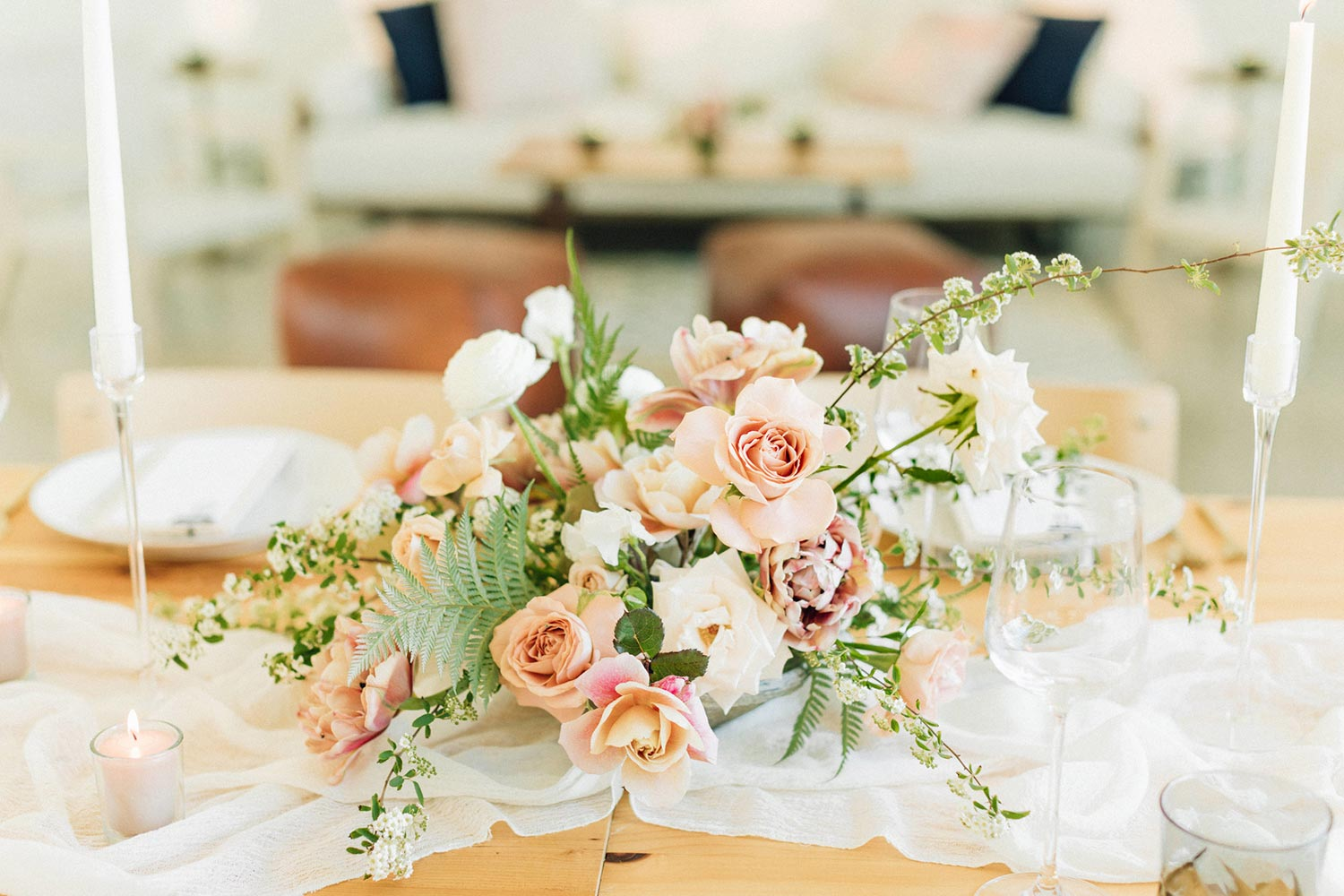 Centerpiece flower design by Color Theory Collective