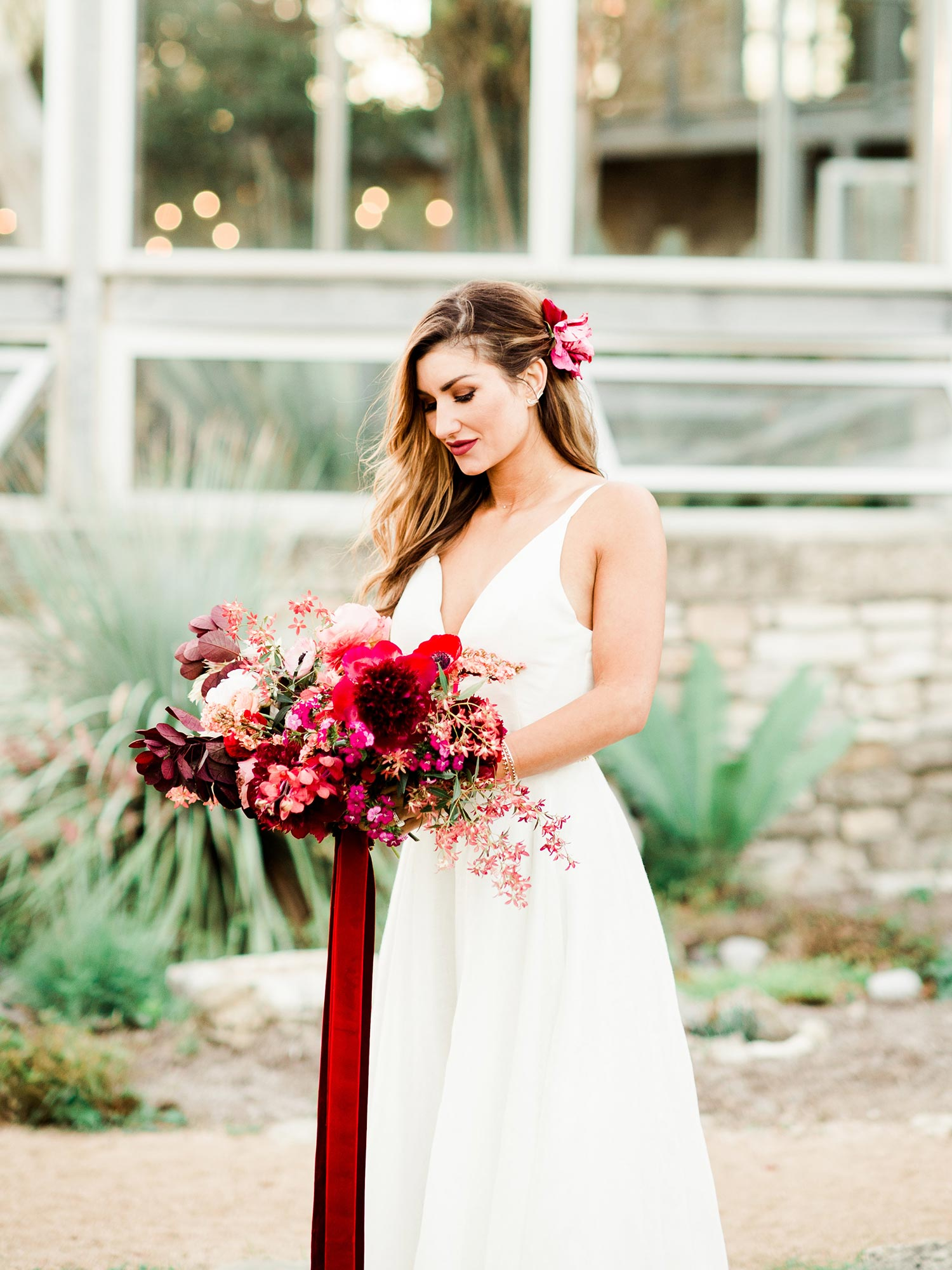 Portland bride's bouquet by Color Theory Collective