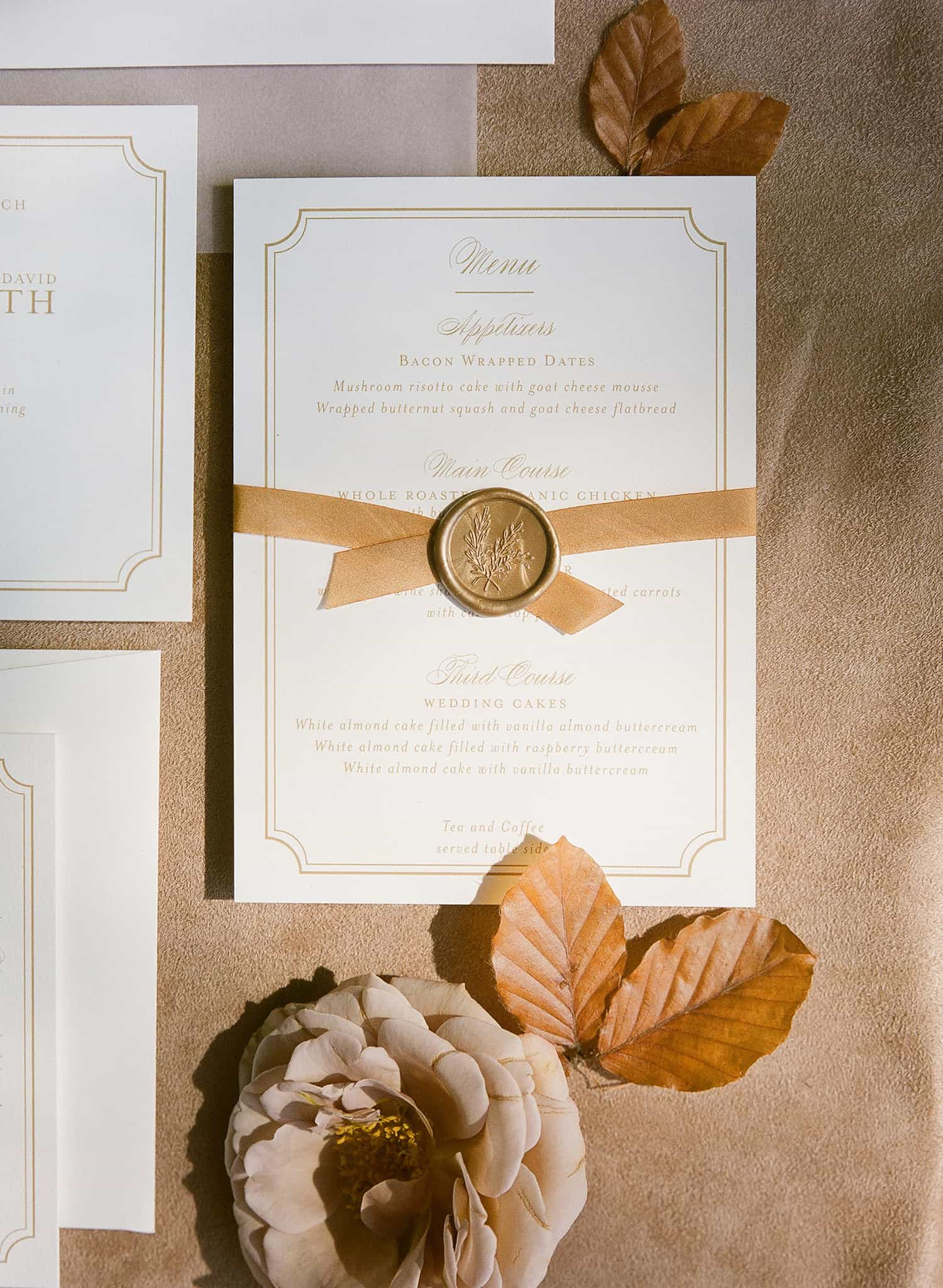 Invitations with flowers by Color Theory Collective