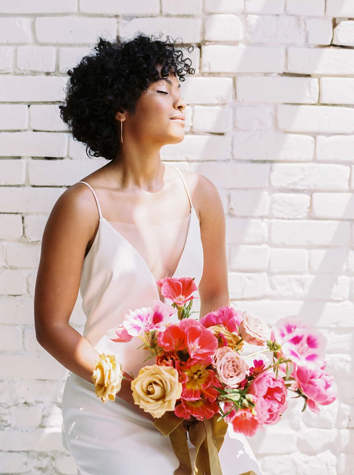 Bridal bouquet designed by Color Theory Collective
