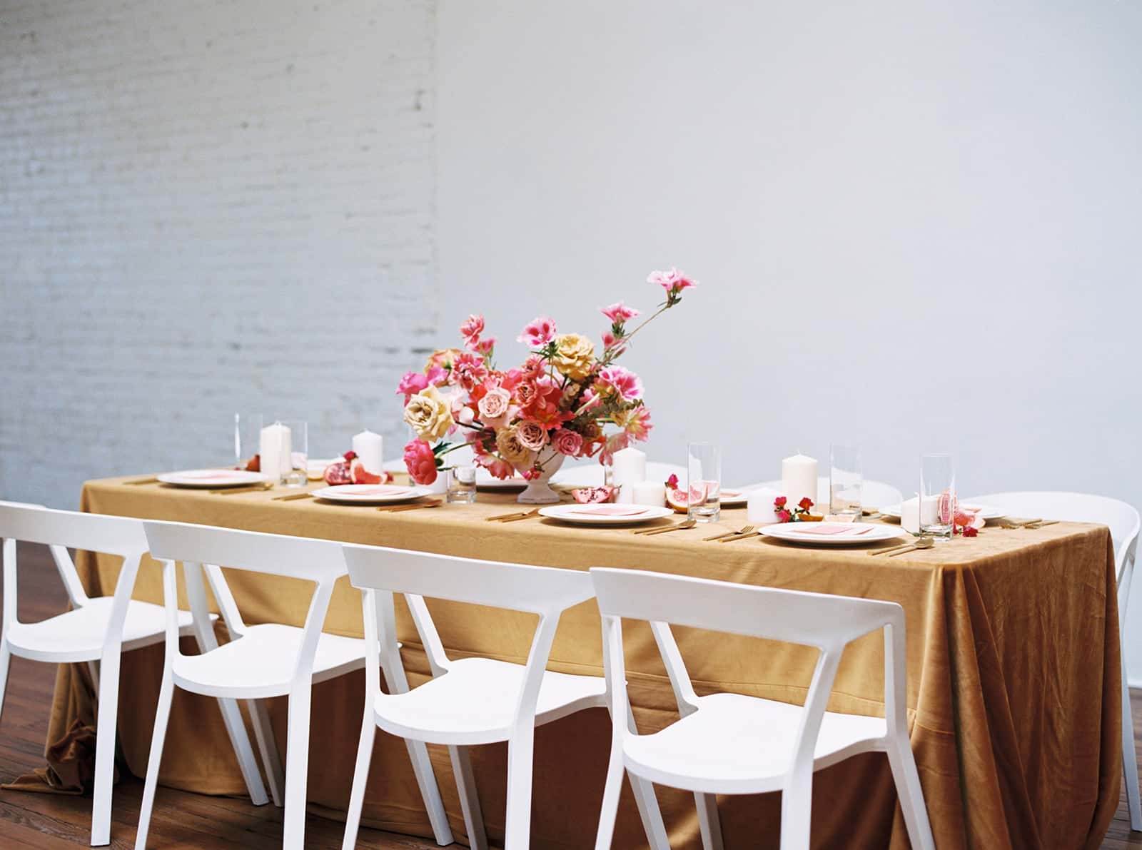 Contemporary wedding styling and floral design by Color Theory Collective