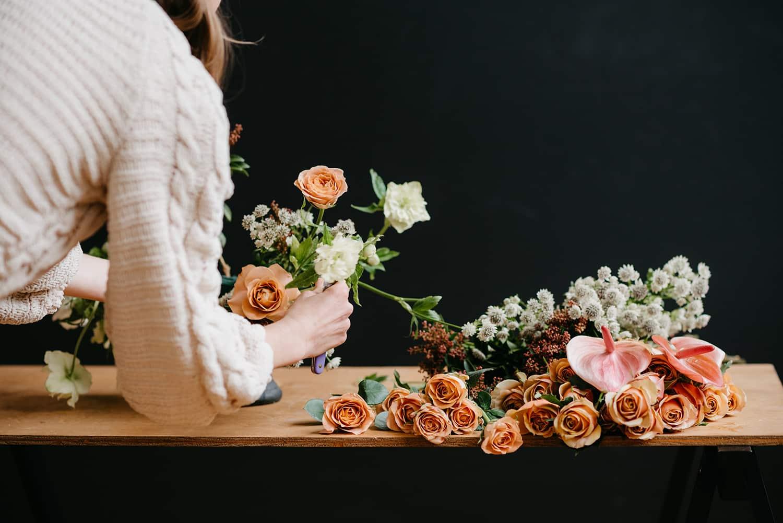 Portland florist demonstrates floral design in area flower shop