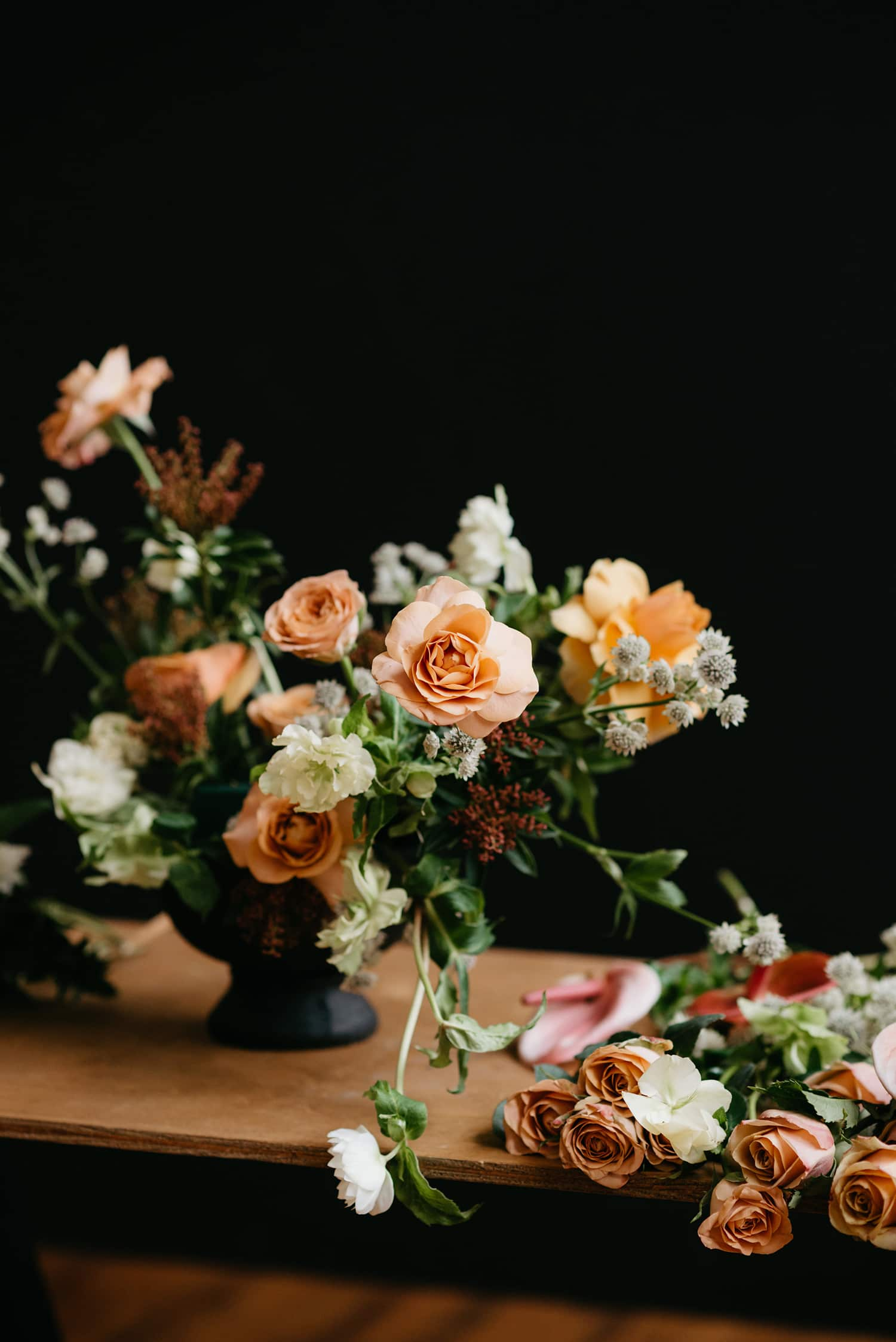 Floral design in Portland Oregon by wedding florist Color Theory Collective