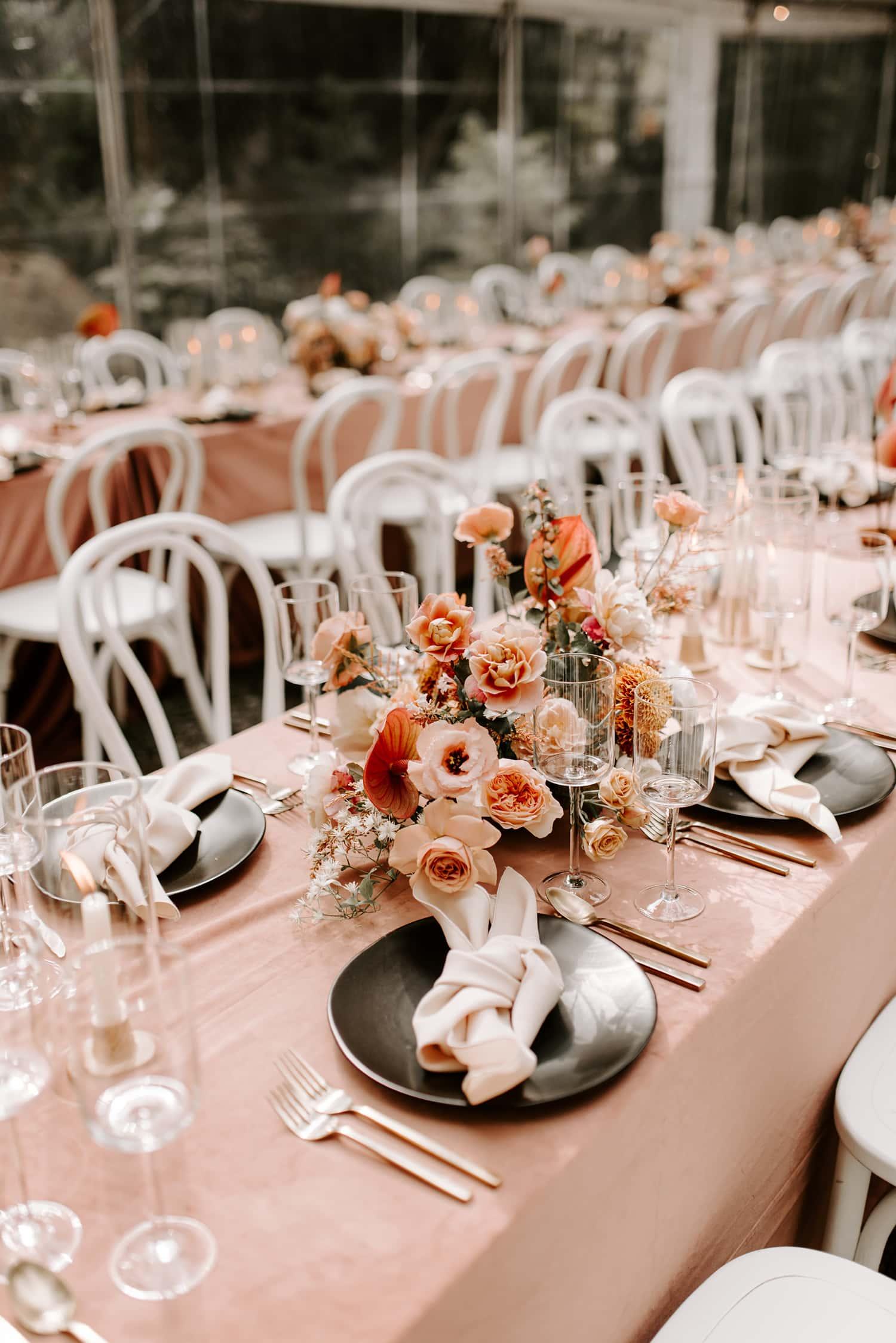 Copy of Elegant Centerpiece on wedding table
