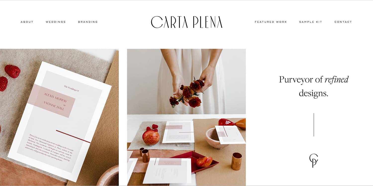 Reach out - Check out the Carta Plena website for more information about bespoke designs, the semi-customized wedding collection and unique editorial designs.