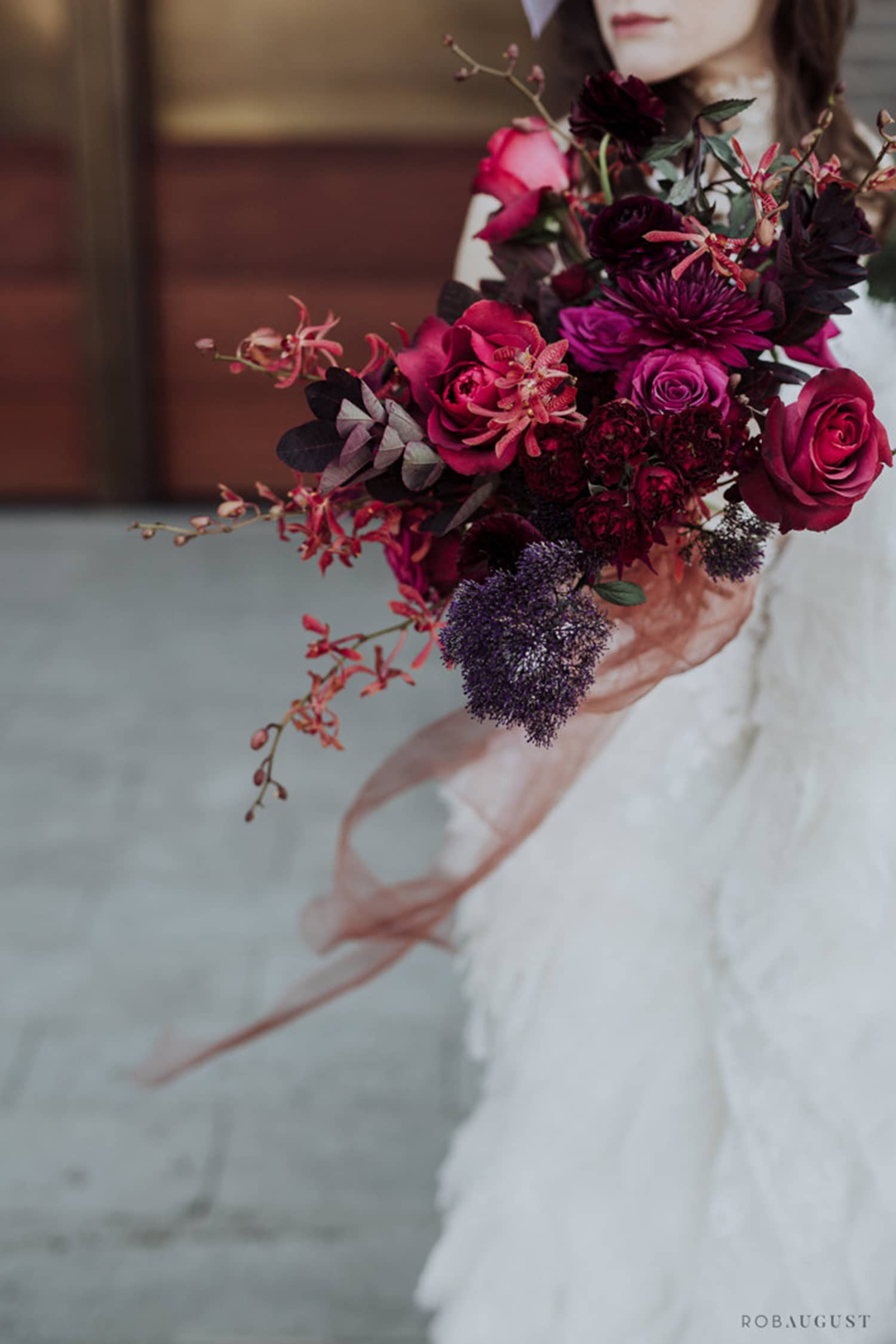 Jewel toned bouquet by Color Theory Collective