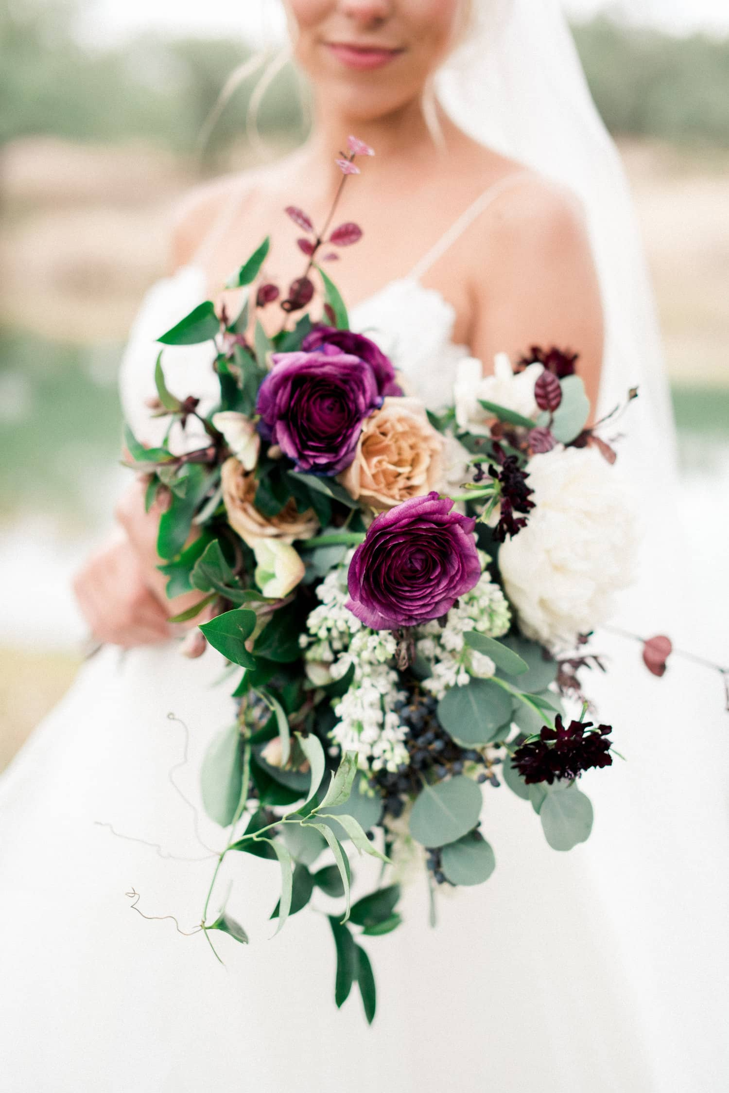 Cascading floral bouquet by Color Theory Collective