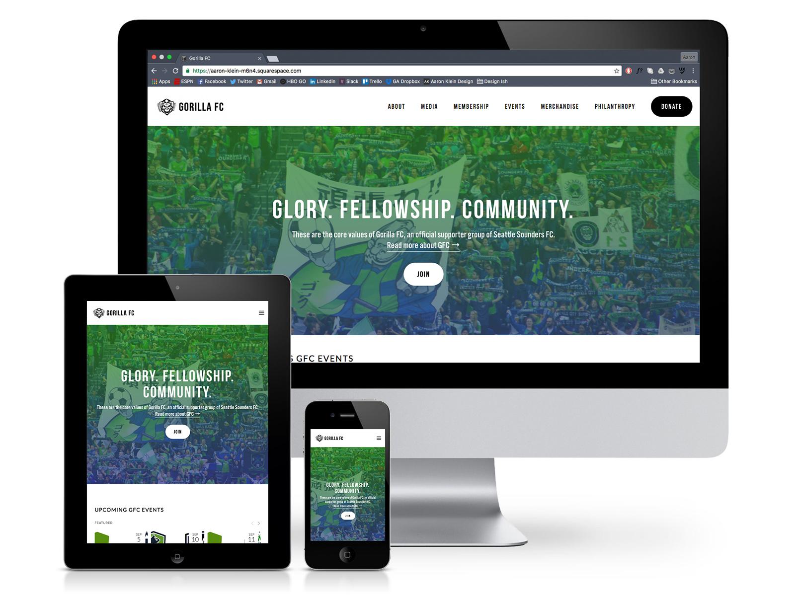 Gorilla FC site re-design - Gorilla FC