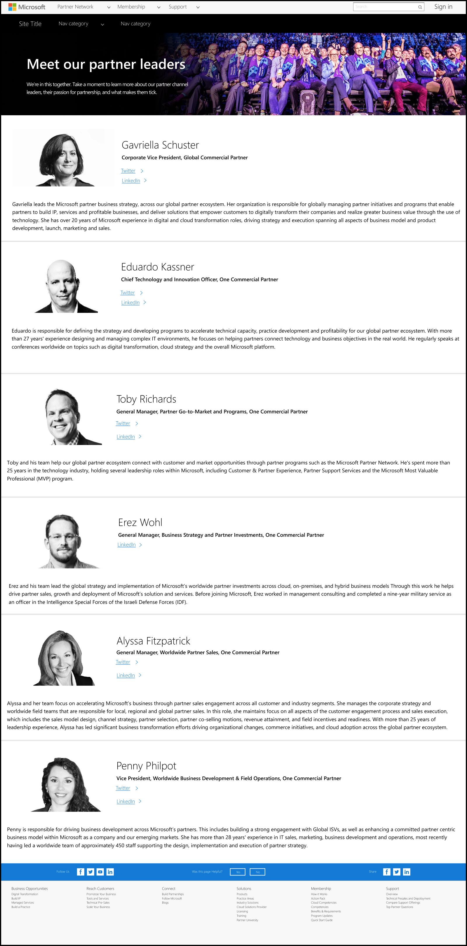 Executive Leadership - Microsoft