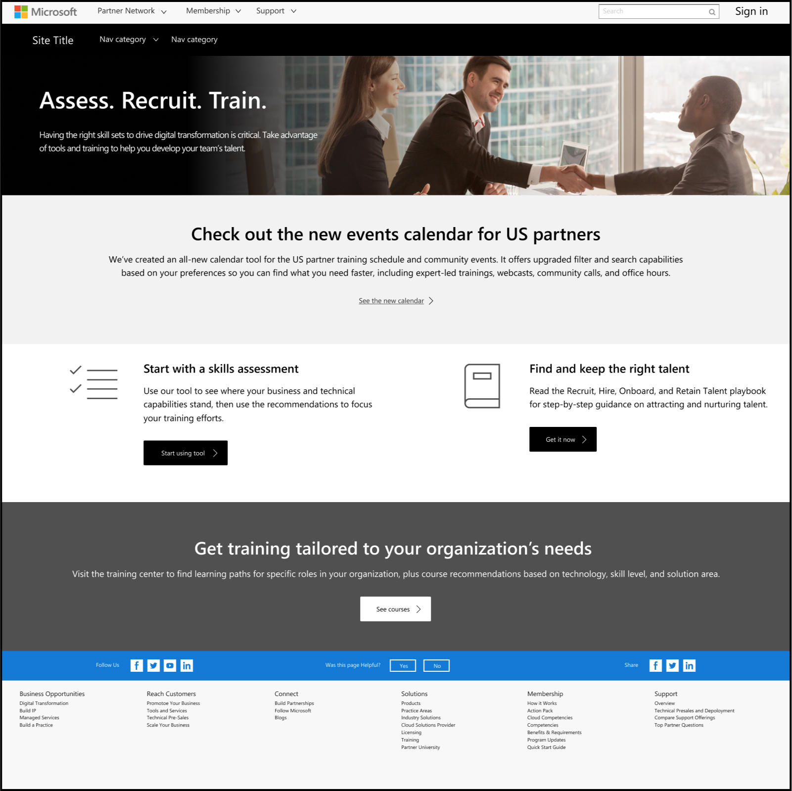 Partner Skills Training - Microsoft
