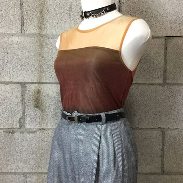Top: - 90's vintage tank (Medium): SOLD  Bottom: - 80's vintage pants with belt (30 waist): $16  #anastasiasvintage #vintageclothingberkeley #buyselltradeclothingberkeley #cashforclothesberkeley #anastasiasnewandusedberkeley #vintagetradingtelegraph