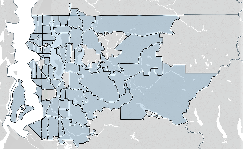 Lambert House served youth from almost every zip code in King County in 2016, represented above in light blue shading. Lambert house served youth from 133 zip codes in total including zip codes outside of king county.