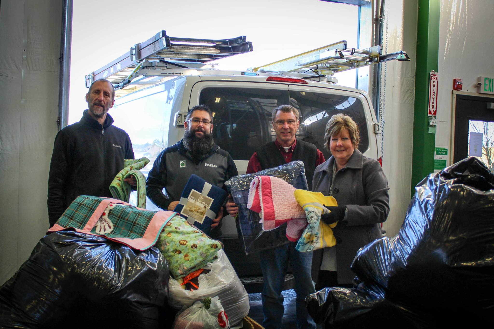 First Federal Donates Books and Blankets