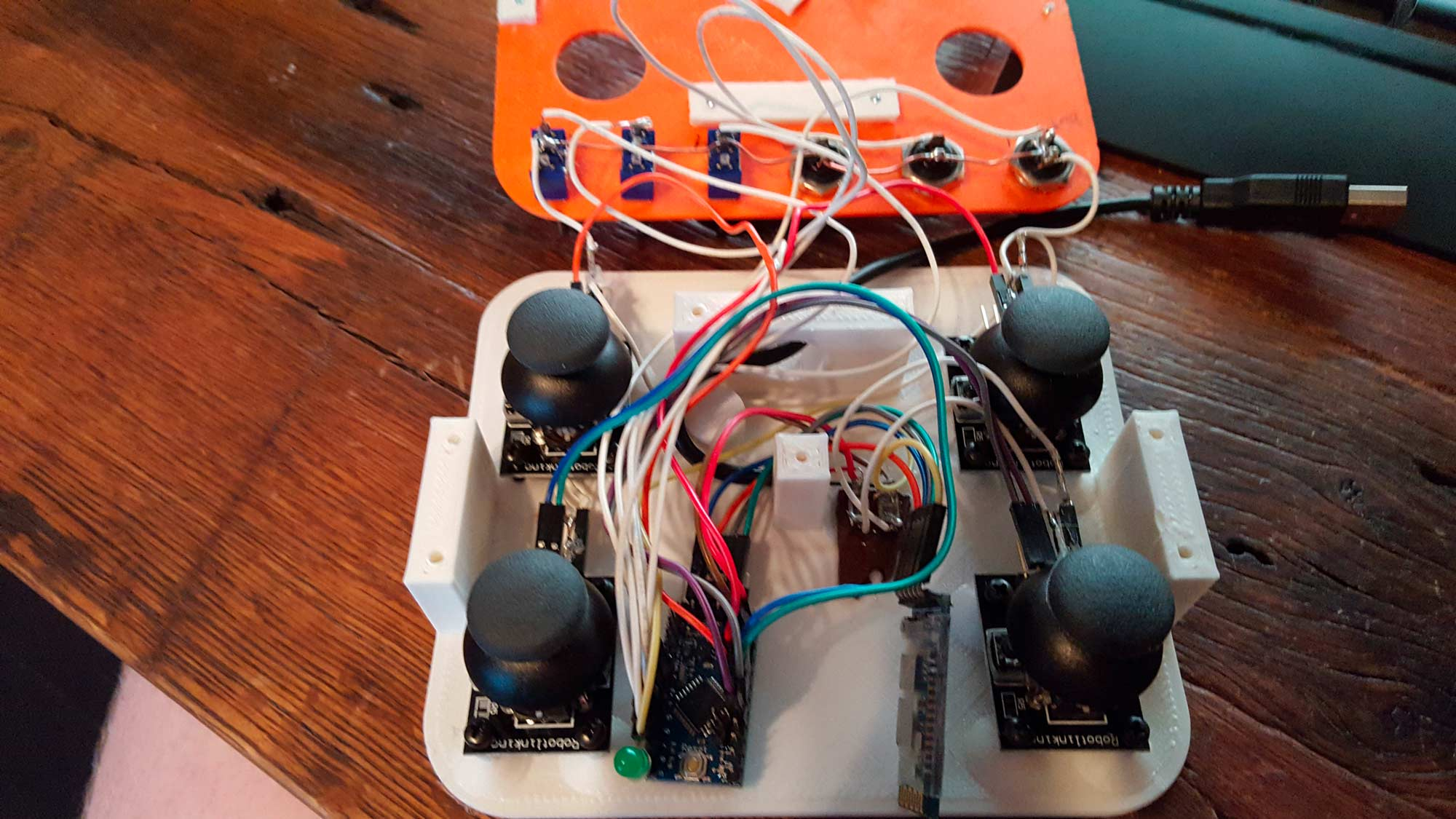 Attach everything (including the bluetooth module) to the arduino.