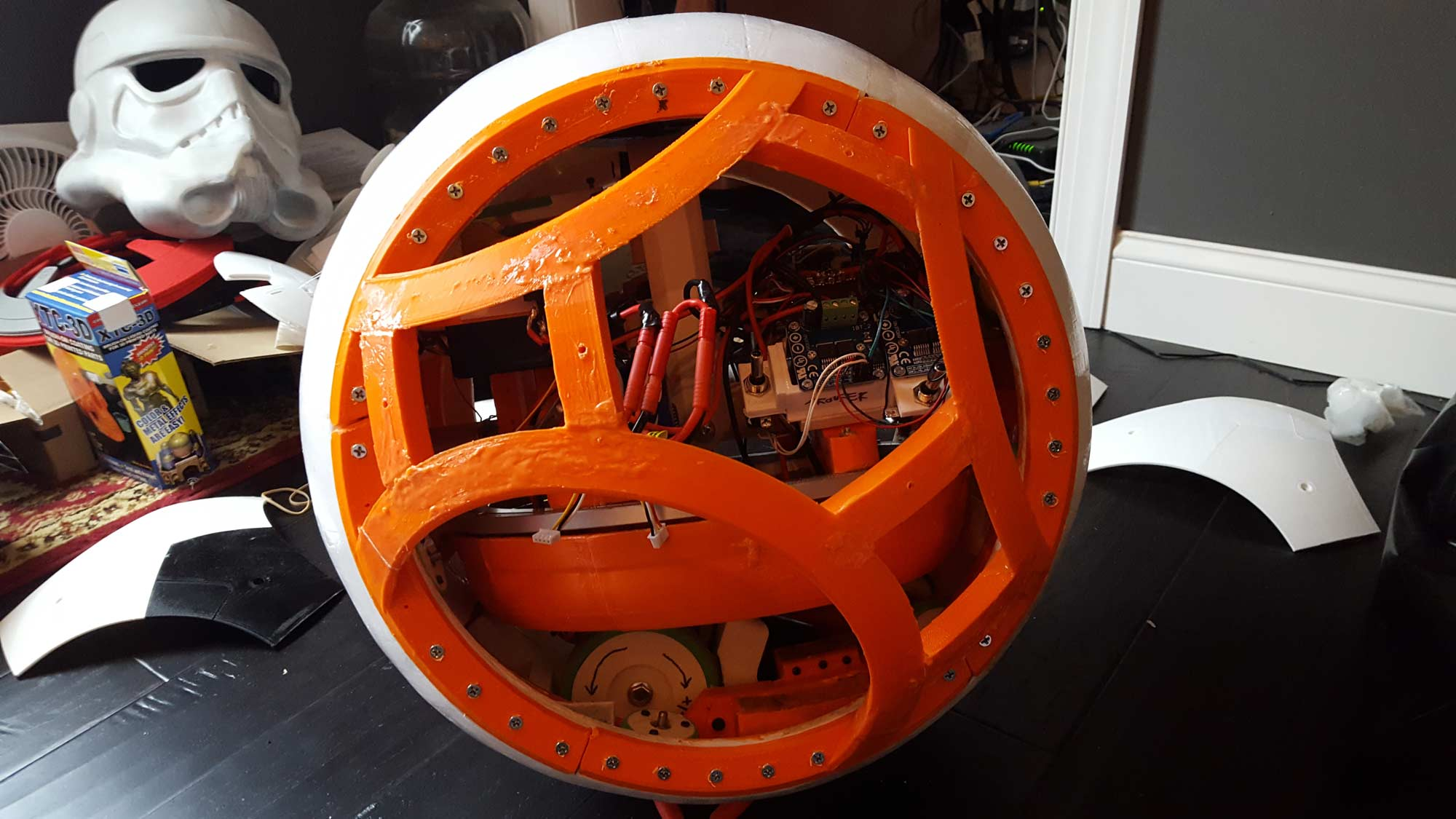 Full Frame install. I also beefed up the reinforcments on the frame with some more slurry.