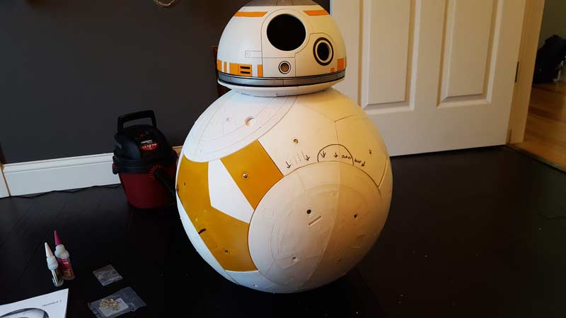 Full mockup with old head. Starting to look like BB-8