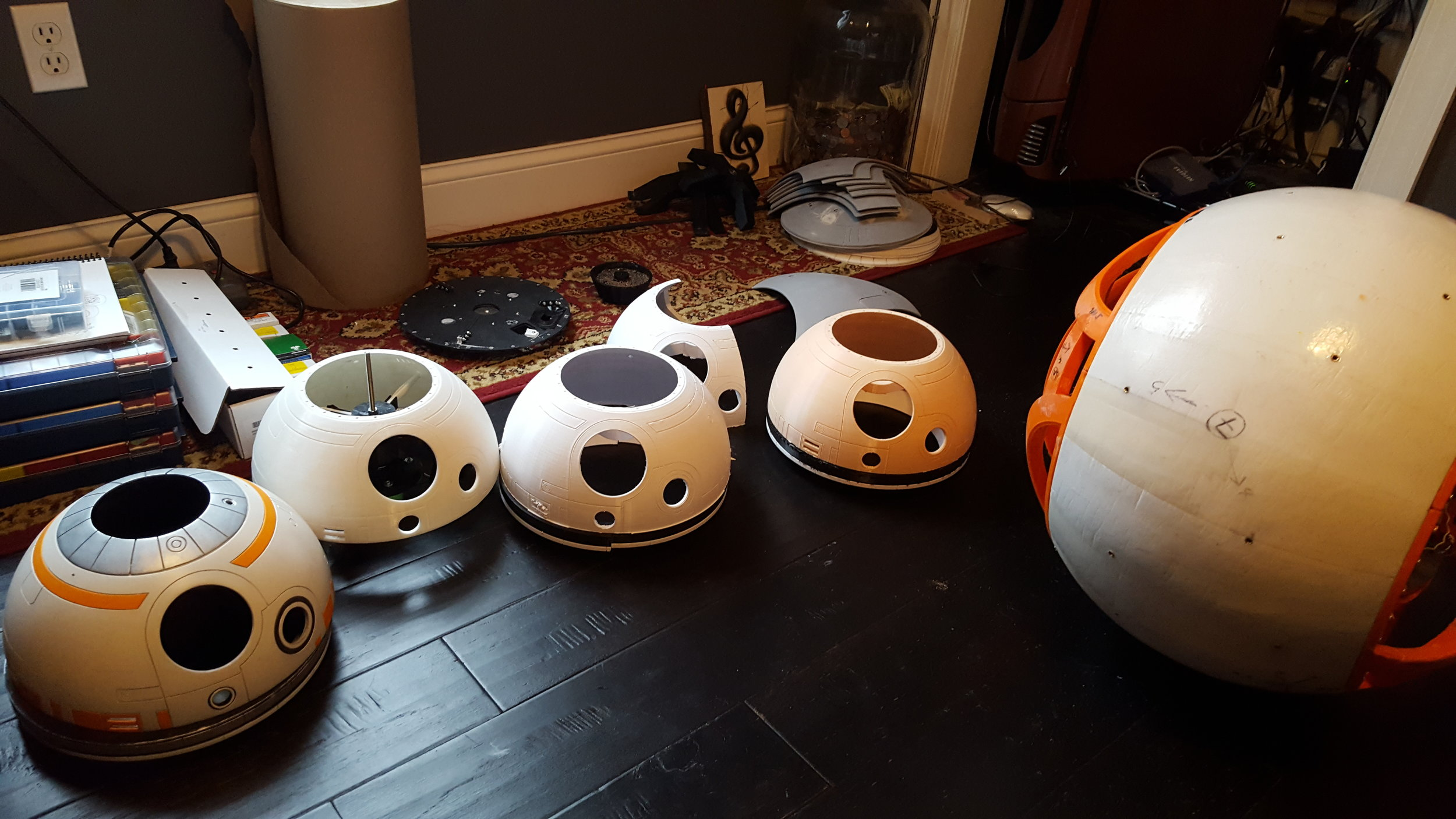 Here you can see my current dome collection. The one on the far left is my first /completed dome. The one on the far right is what will likely become int he final dome.