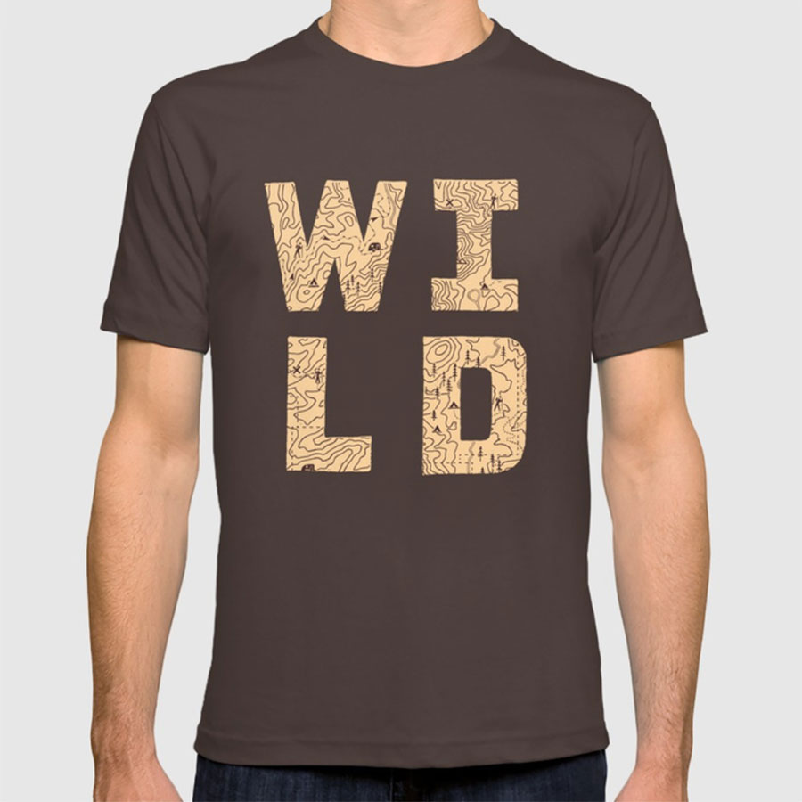 Wild Tee by Busy Campers on Society6