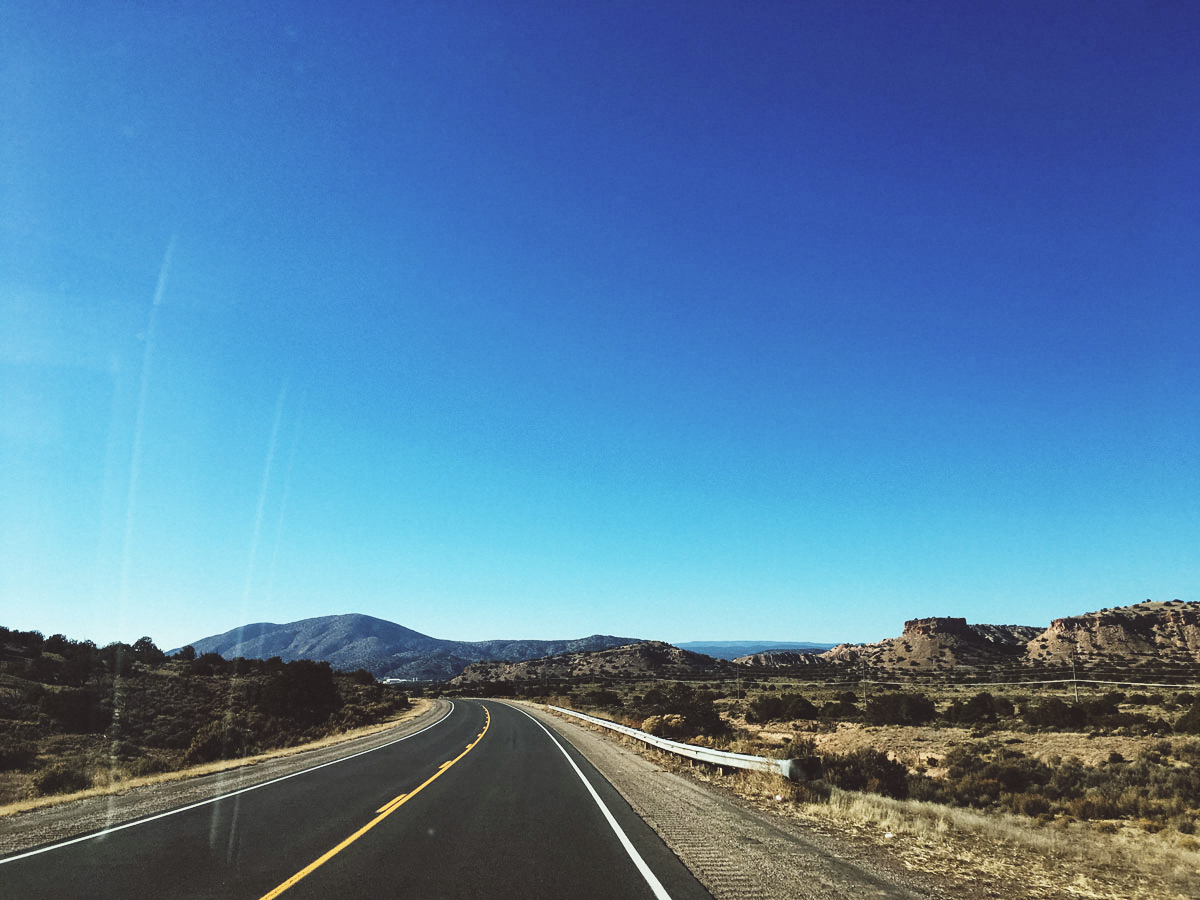 The leisurely, and beautiful 40-mile drive from Taos to Ojo Caliente.
