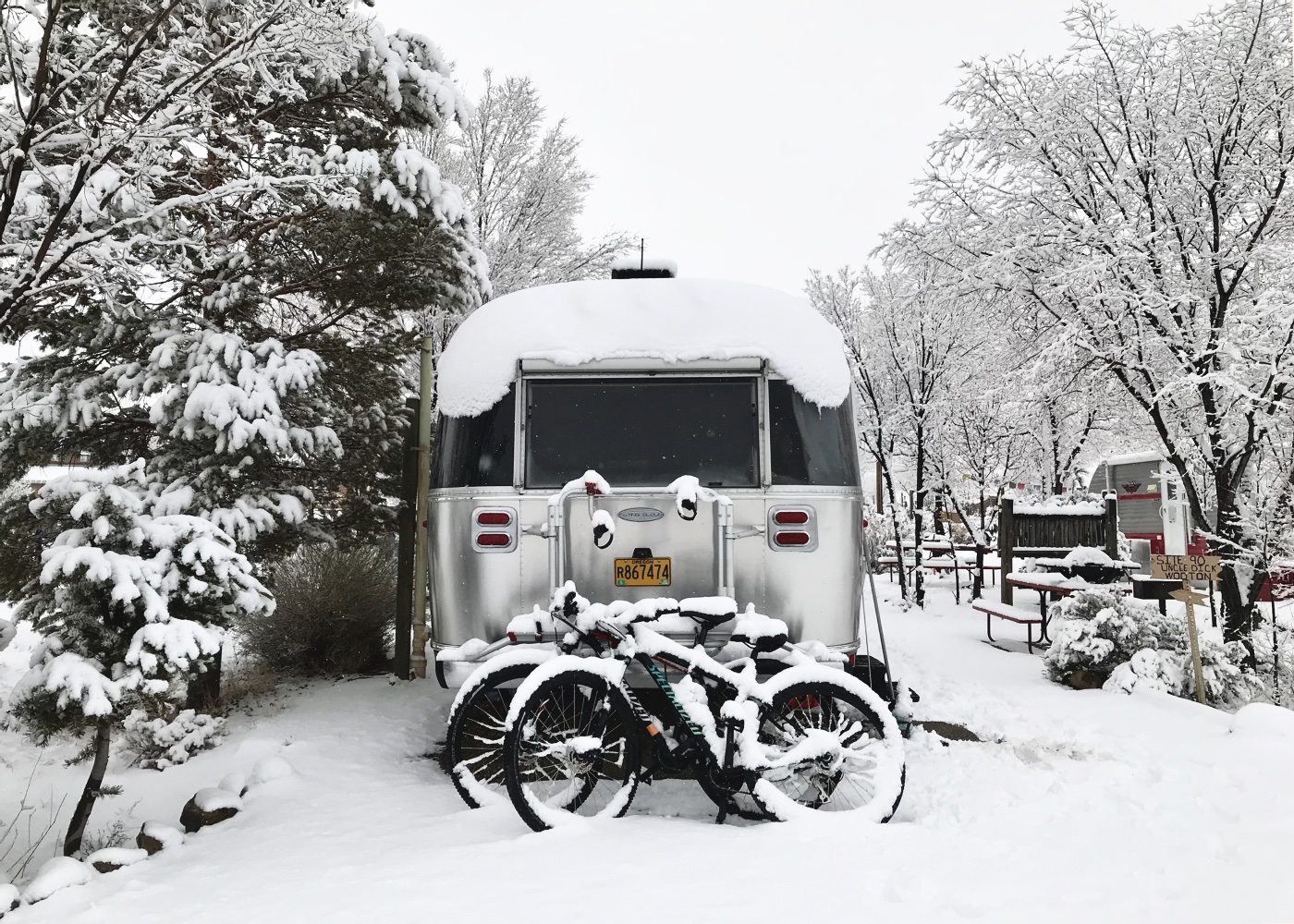 Northern New Mexico got dumped on this winter! This is what our RV park looked like after the 4th or 5th storm of the season.