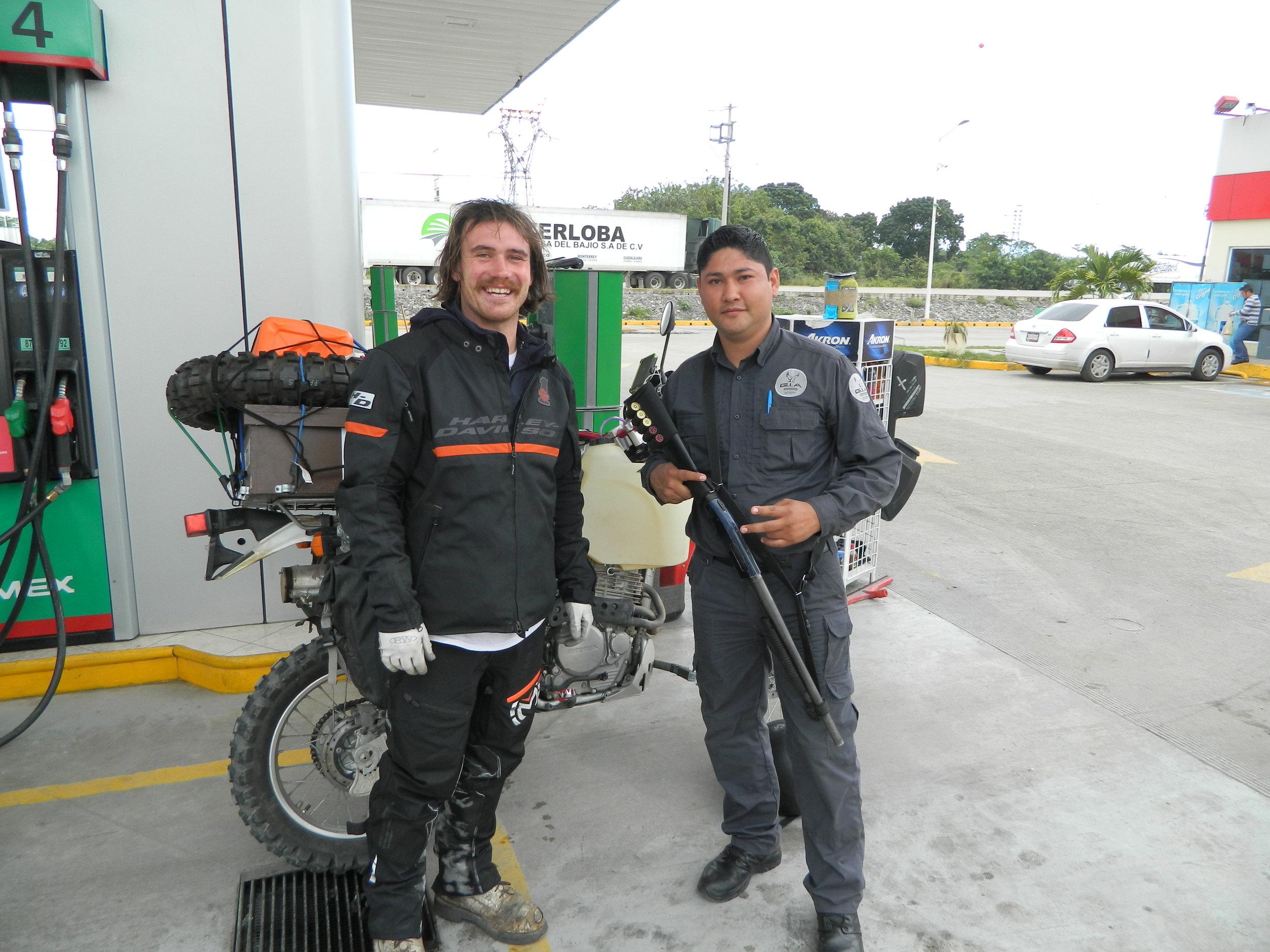 Buying Gas in Vera Cruz