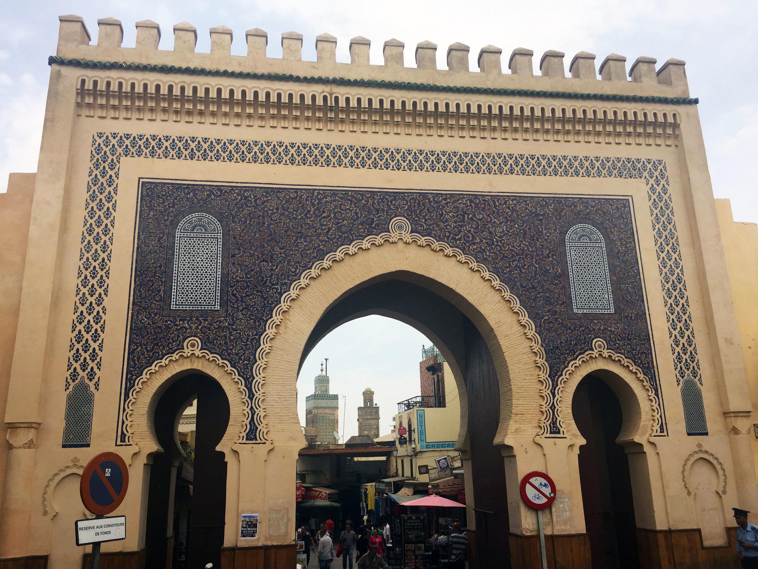 """The famous """"Blue Gate"""" entrance."""