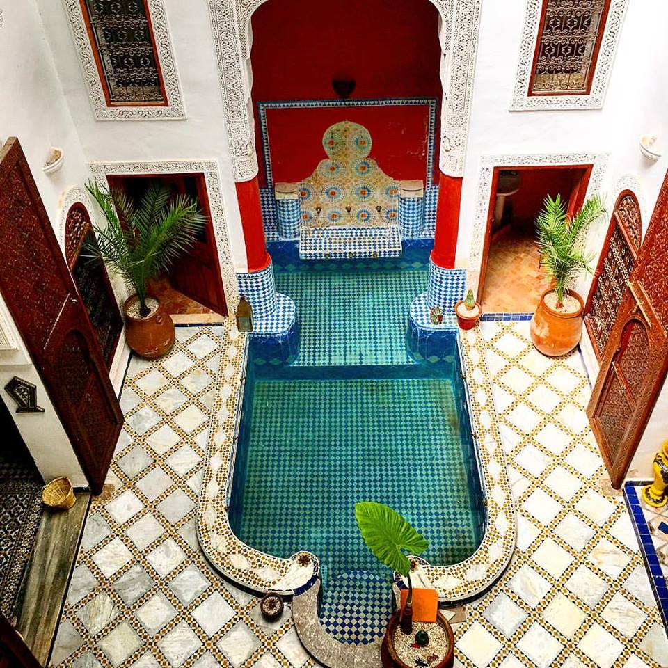 View from the balcony inside our riad. Sick pool, brah.