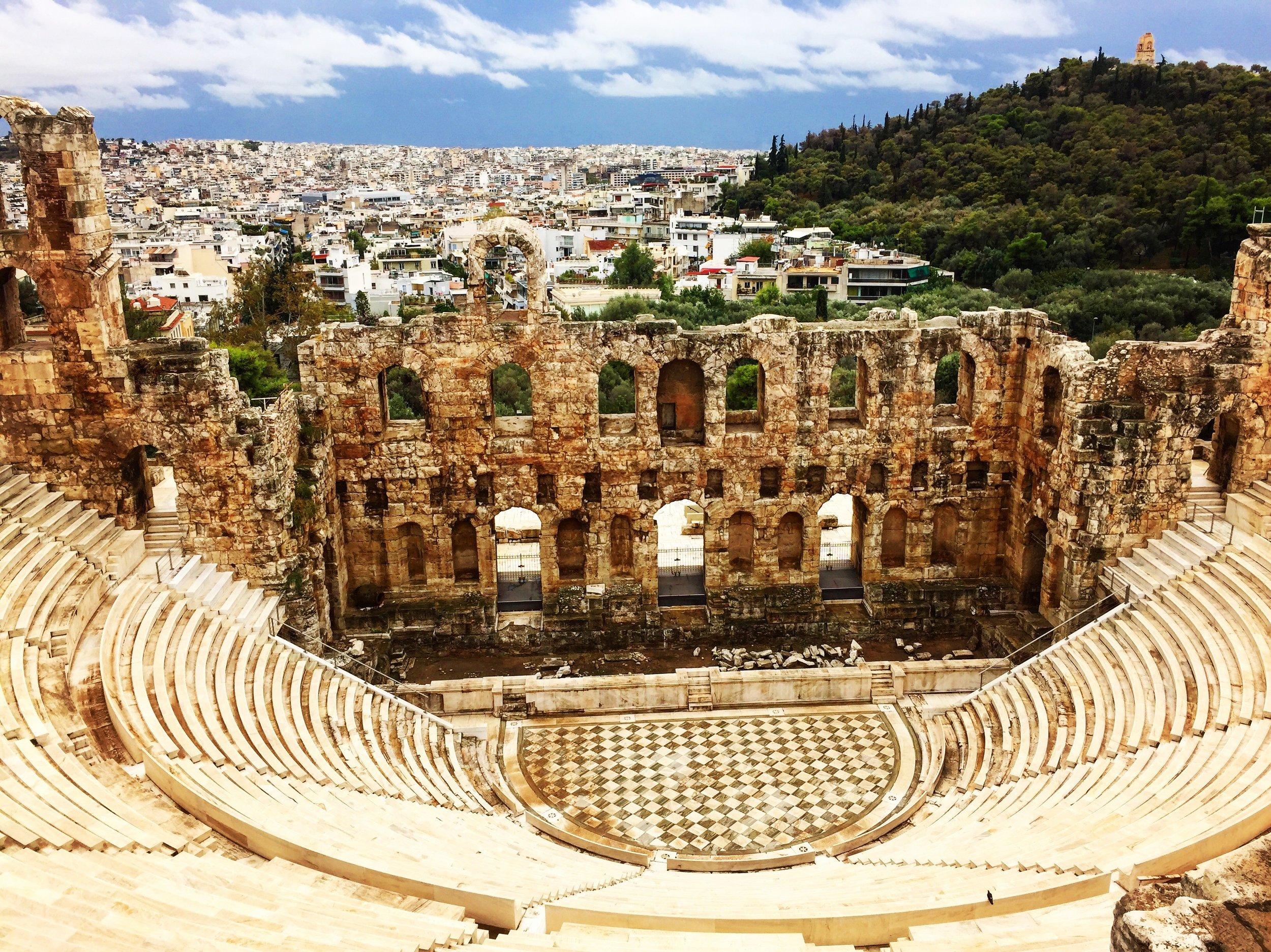 Wen you a famous Greek landmark.