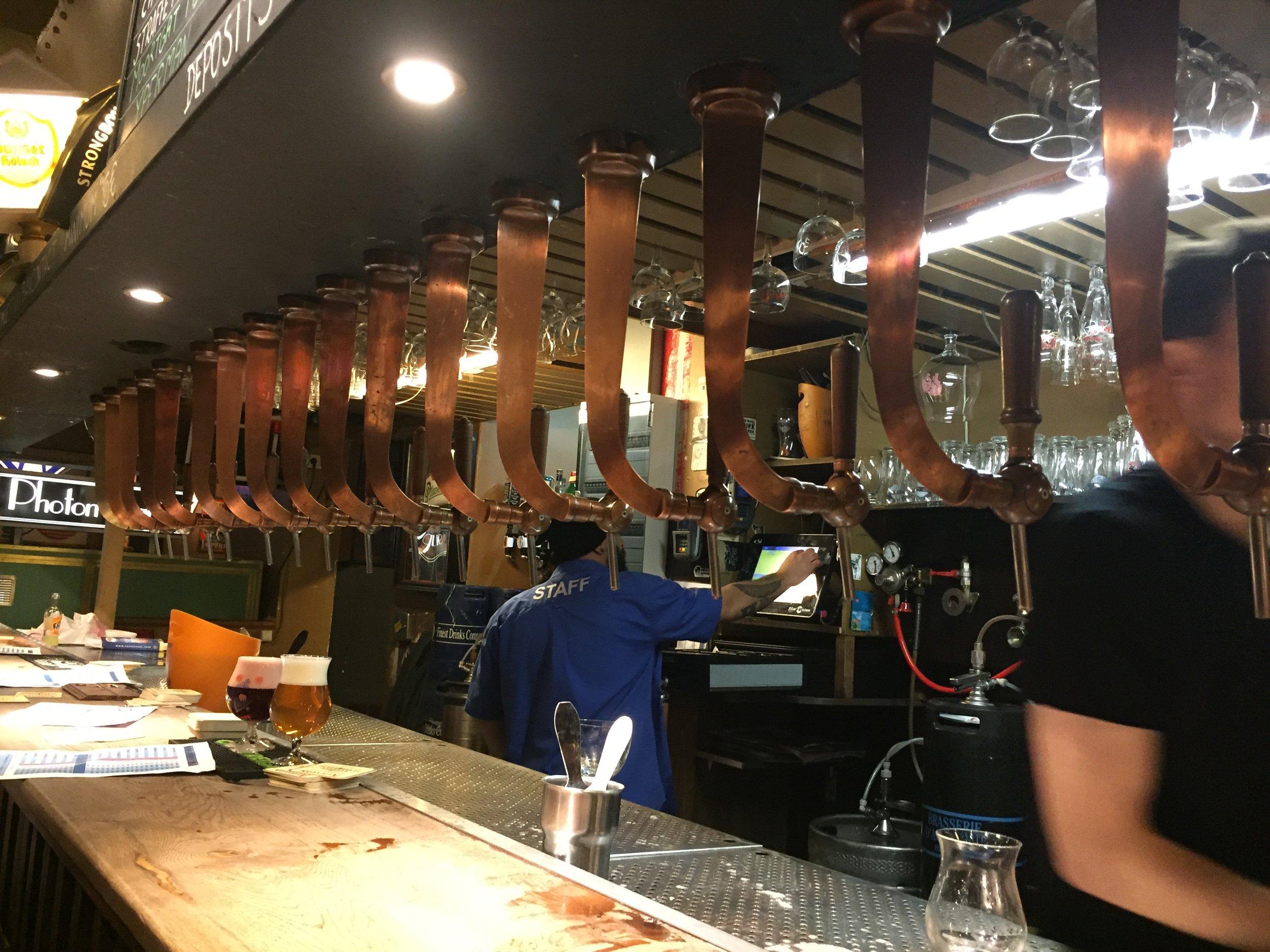 Mmm...beer taps.