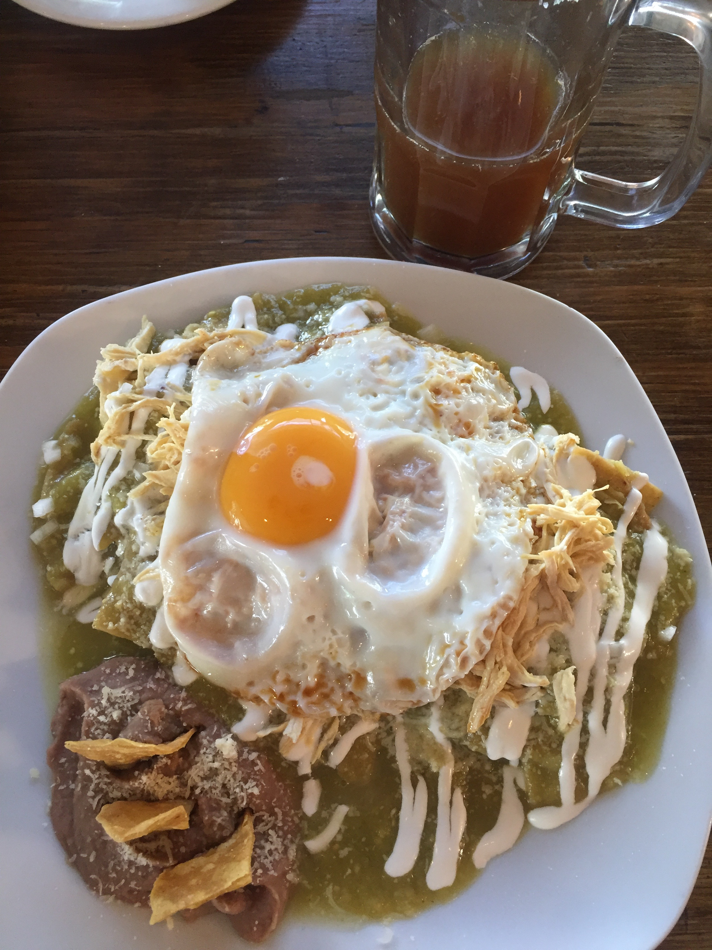 Chilaquiles with NO CHILL.